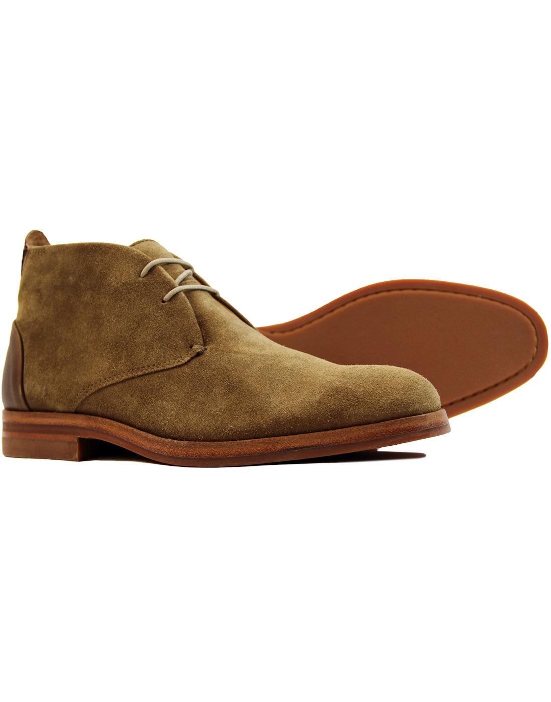 Retro 60s Mod Tobacco Suede Chukka Boots