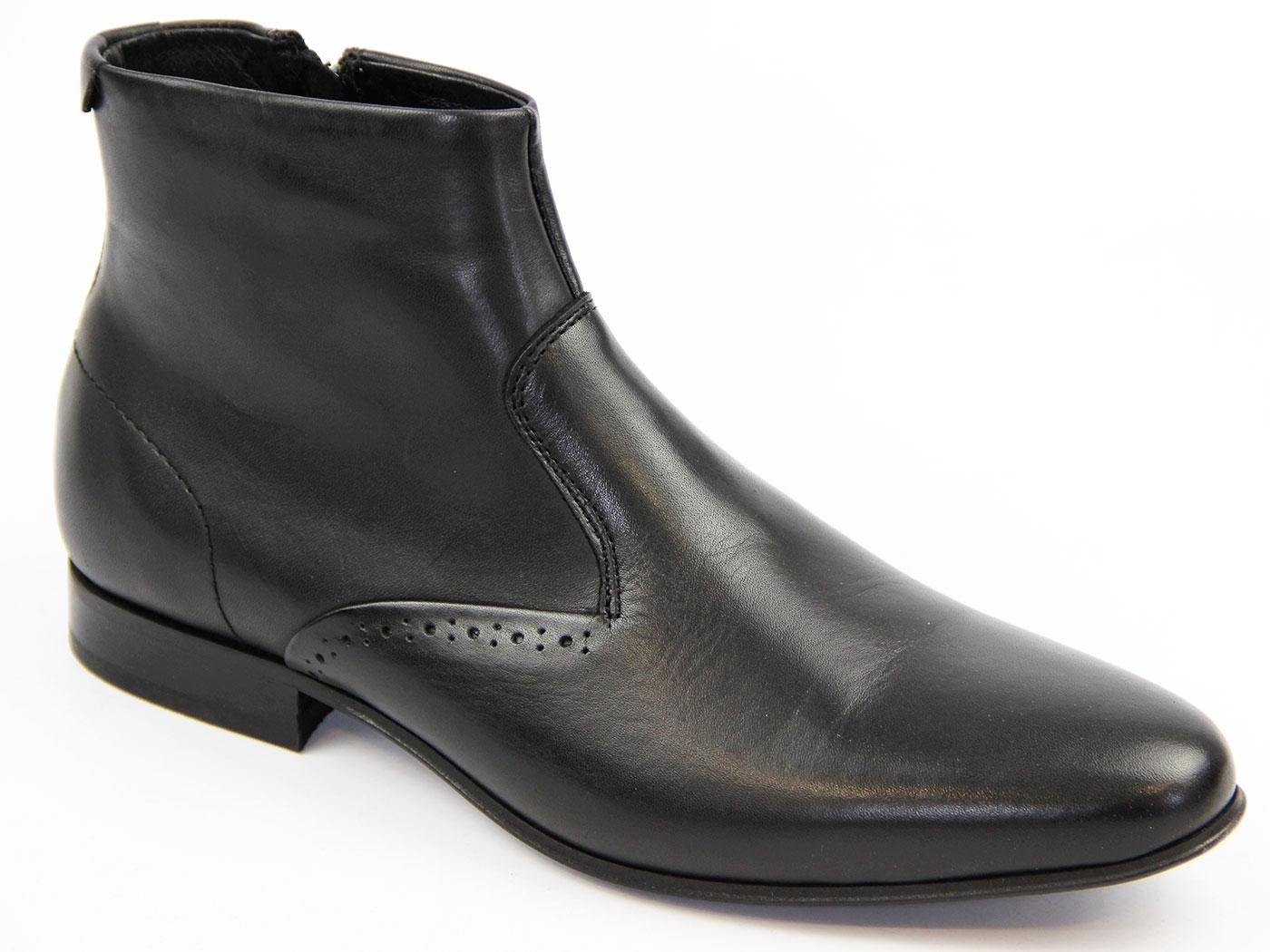 Stallings H by HUDSON 60s Mod Brogue Chelsea Boots