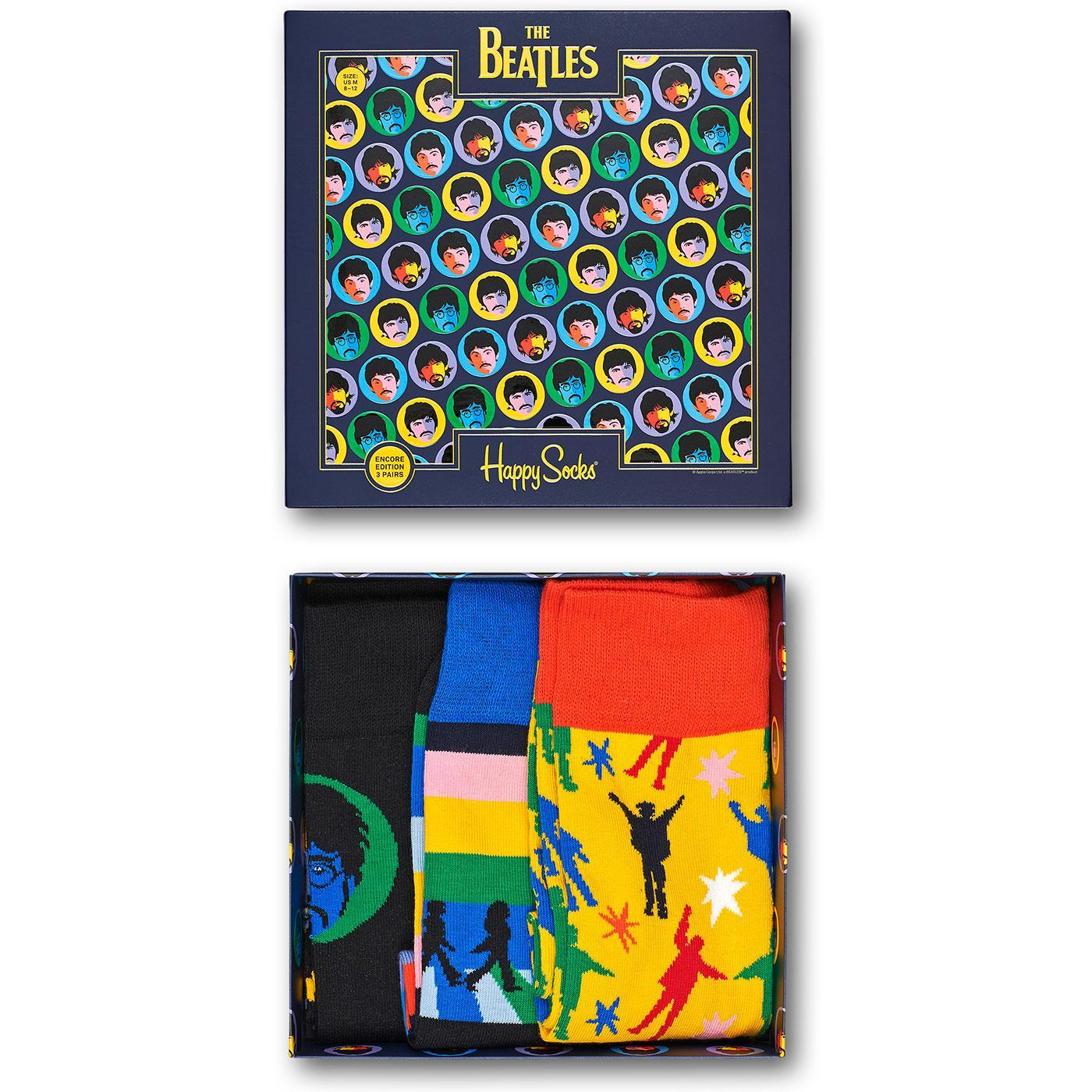 + HAPPY SOCKS x The Beatles 3 Pack Sock Gift Box
