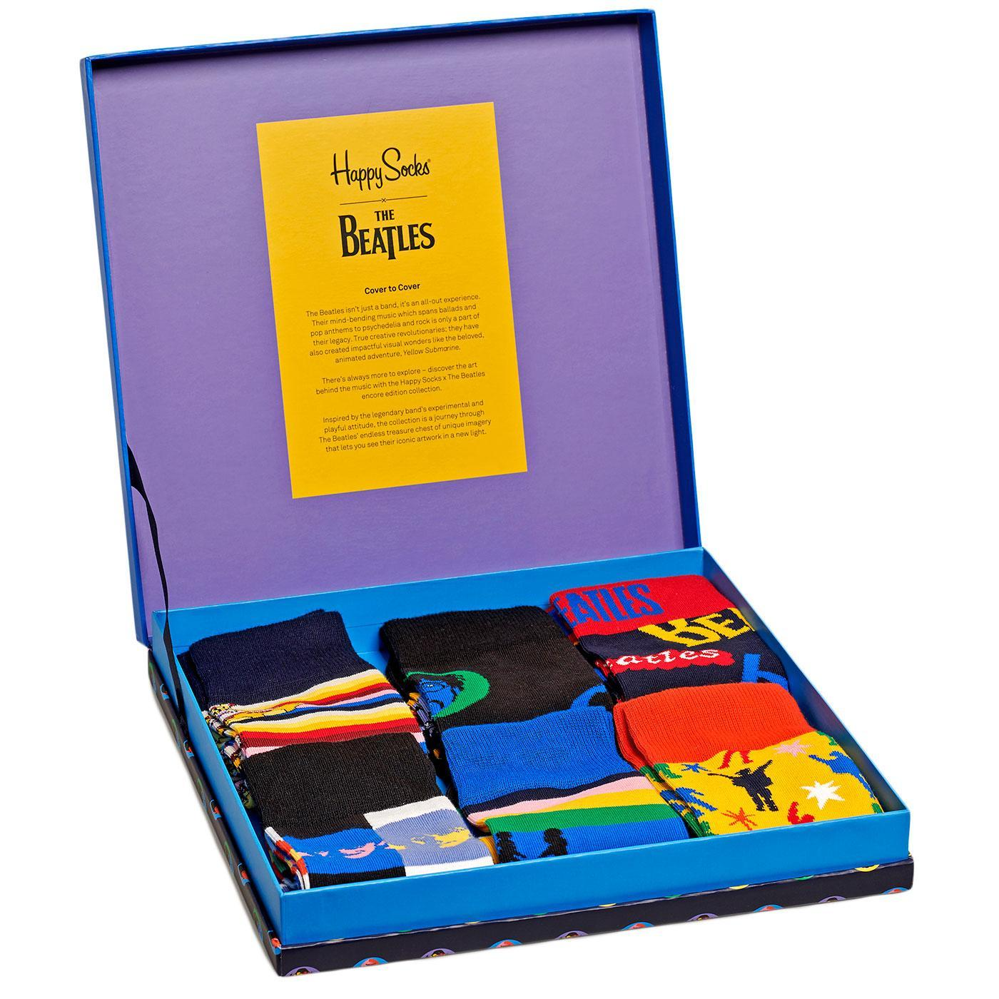 + HAPPY SOCKS x The Beatles 6 Pack Sock Gift Box