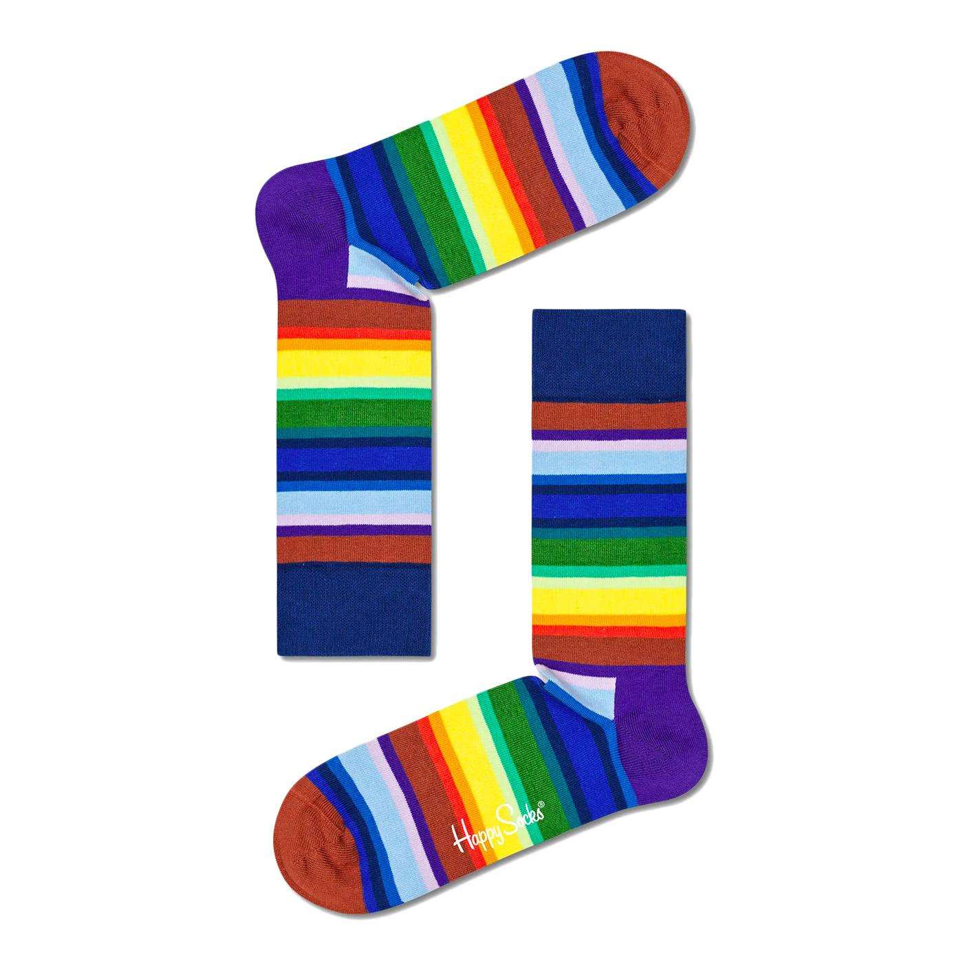 + Gradient Stripe HAPPY SOCKS 70s Rainbow Socks NB