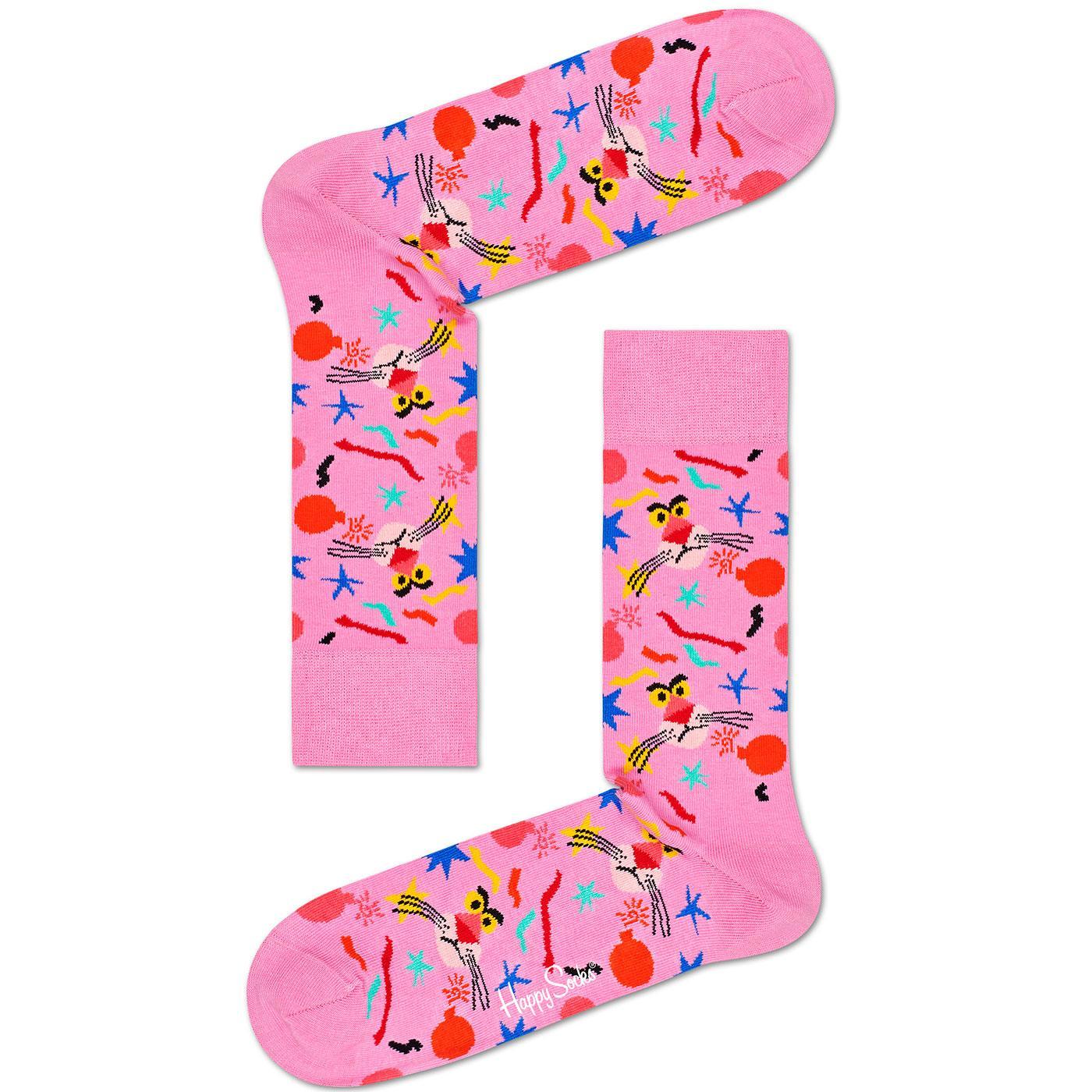 + HAPPY SOCKS x PINK PANTHER Bomb Voyage Socks