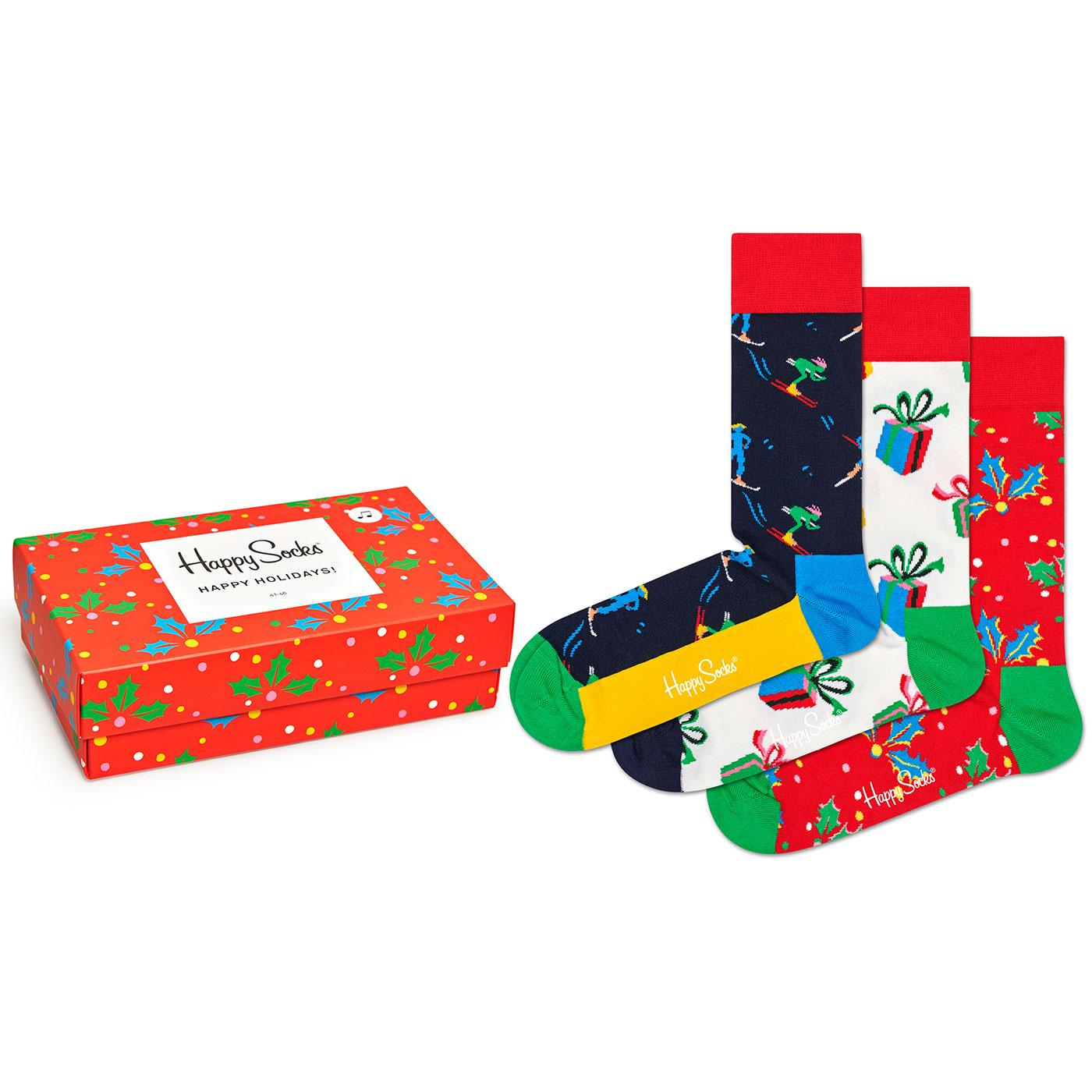 + Playing Holiday HAPPY SOCKS Christmas Sock Set