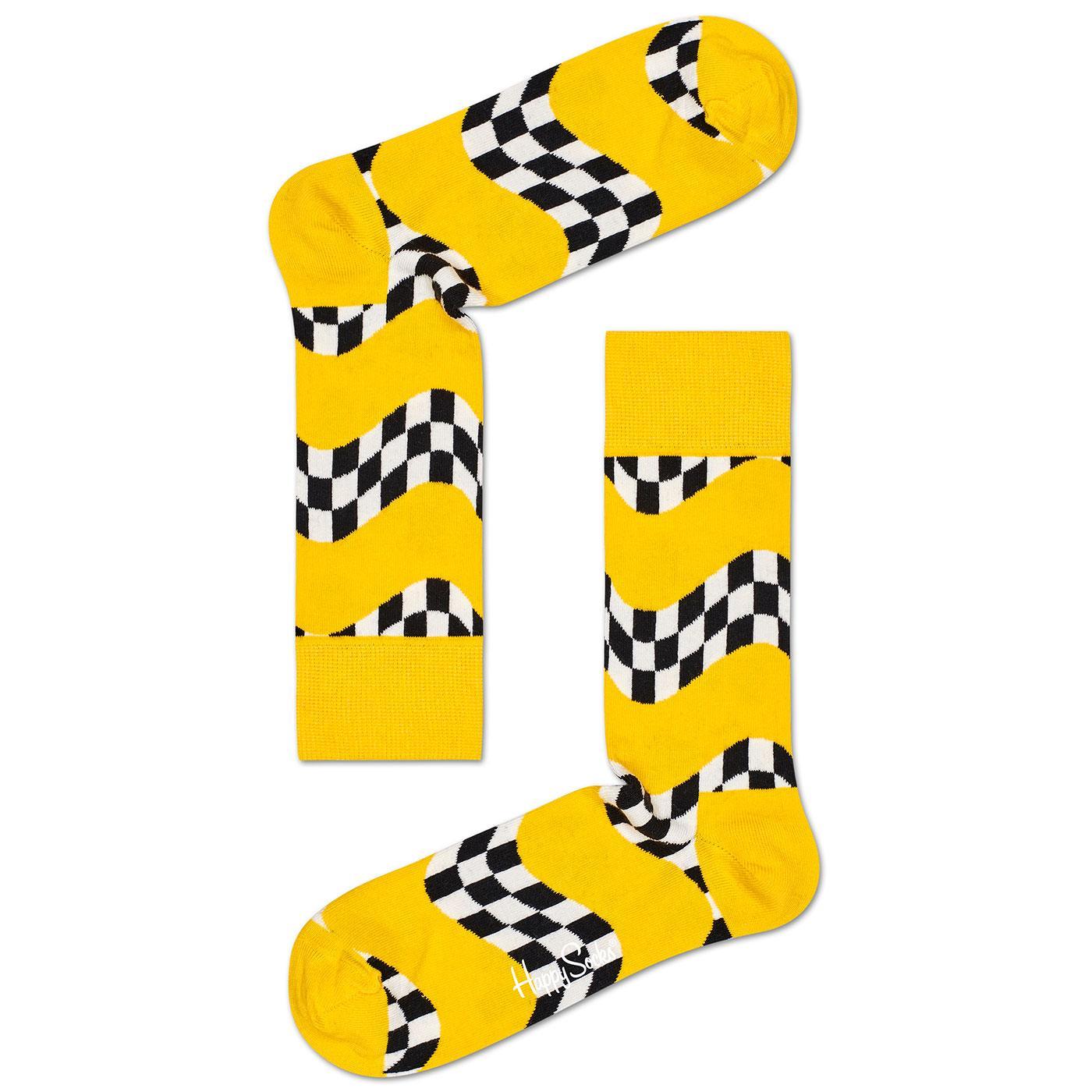 + Race HAPPY SOCKS Retro Checkerboard Flag Socks