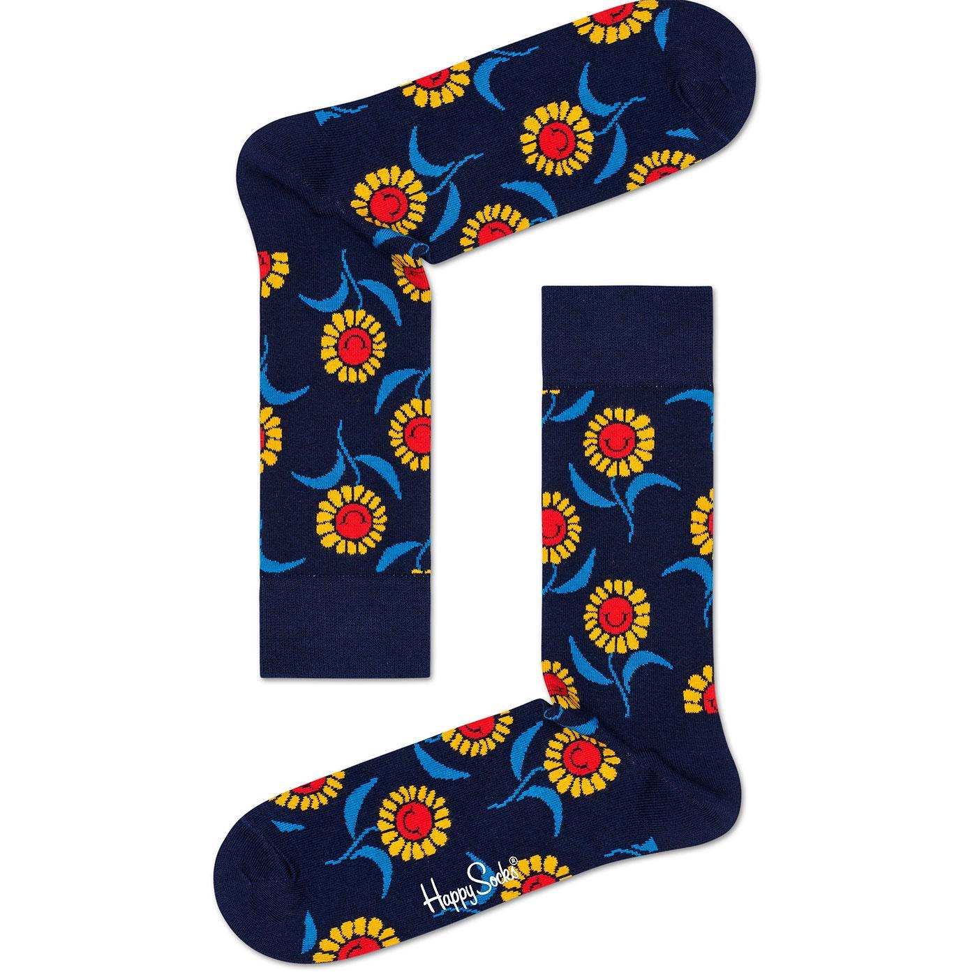 + HAPPY SOCKS Retro 60s Smiling Sunflower Socks