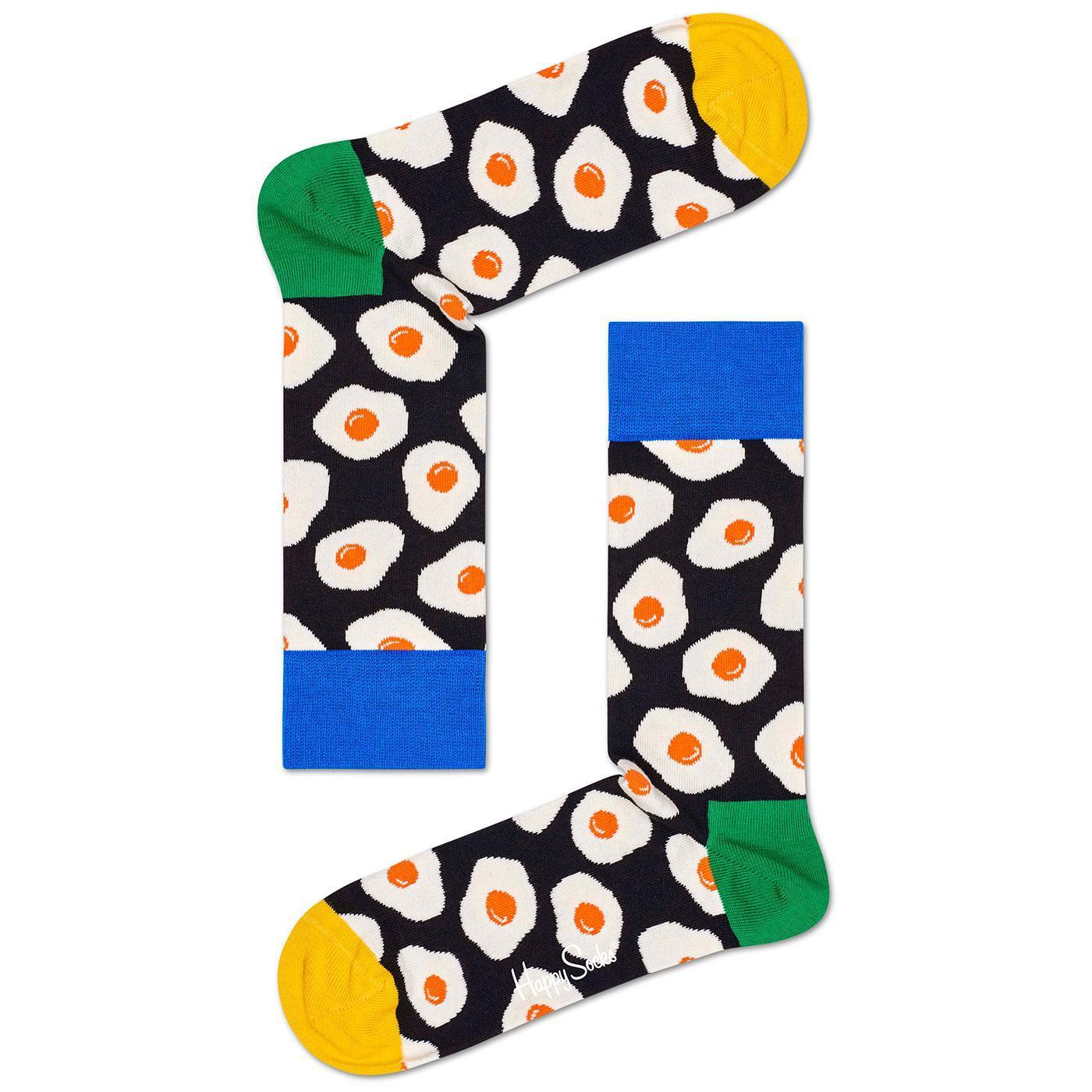 + HAPPY SOCKS Retro Sunny Side Up Fried Egg Socks