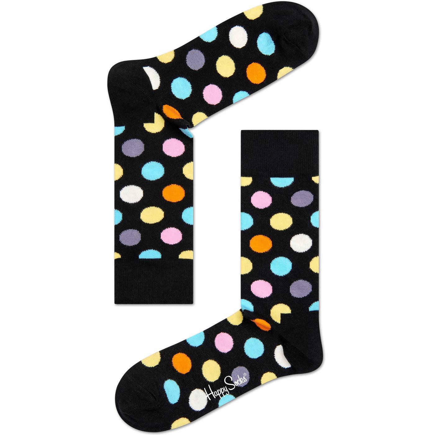 + Big Dot HAPPY SOCKS Mod Polka Dot Socks (Black)