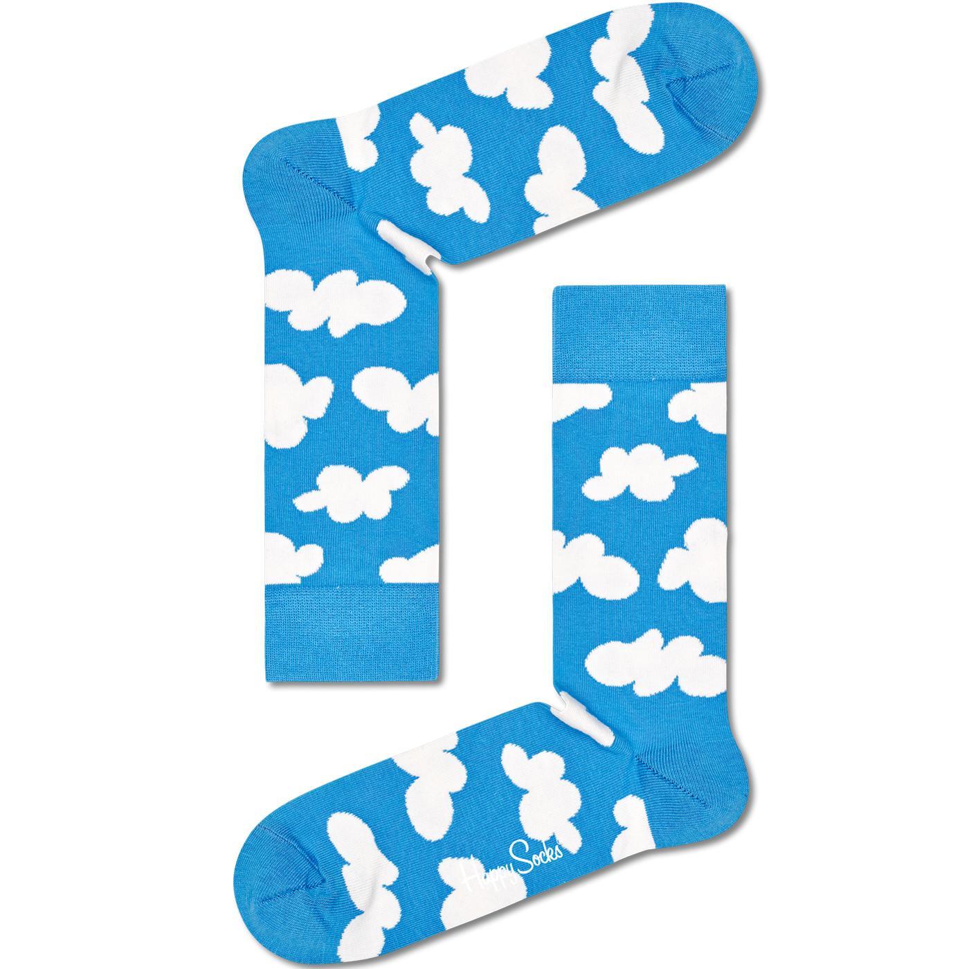 + Cloudy HAPPY SOCKS Retro Cloud Socks (Blue)