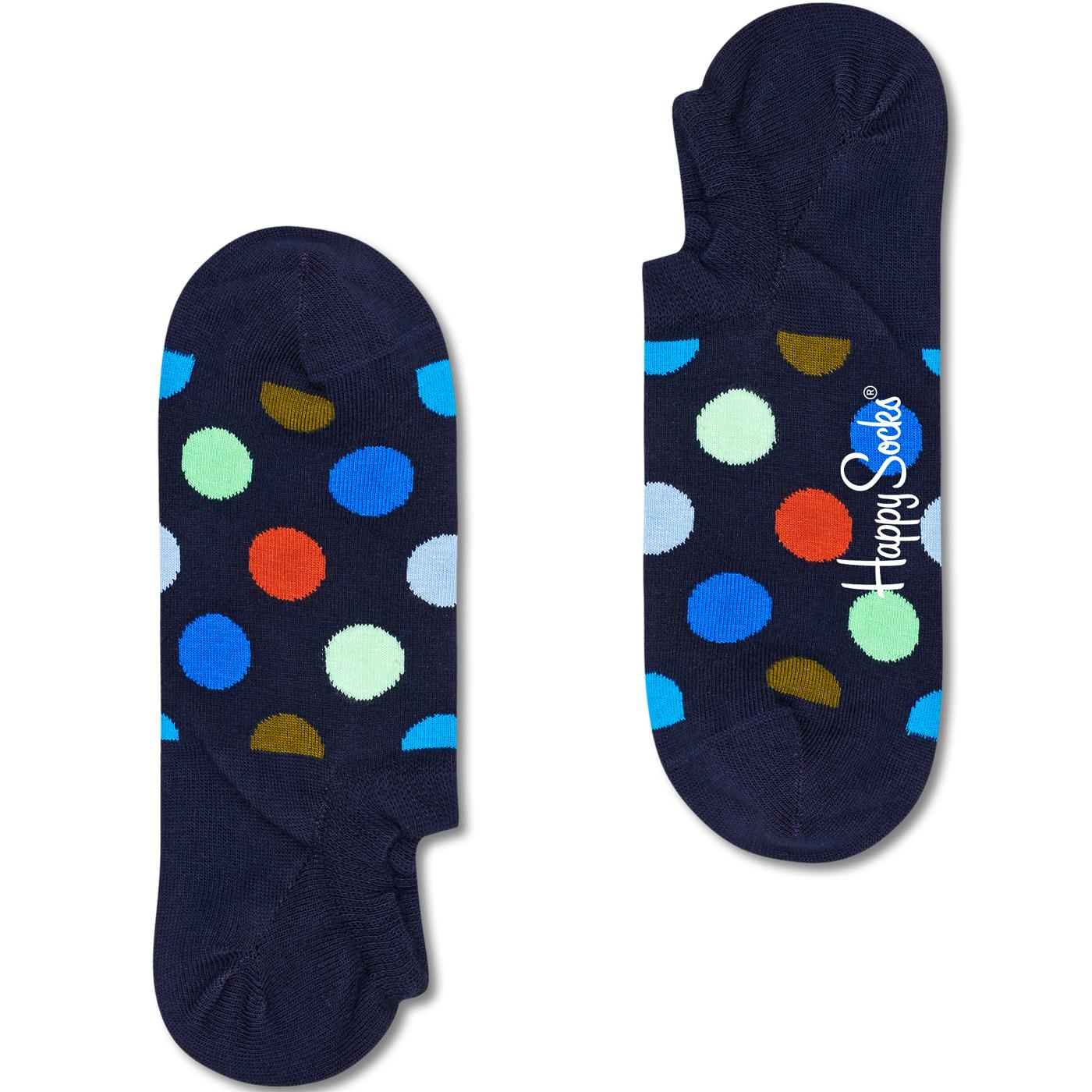 + HAPPY SOCKS Big Dot No Show Trainer Socks