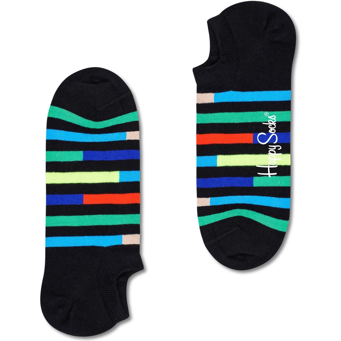 + HAPPY SOCKS Highway Stripe No Show Trainer Socks