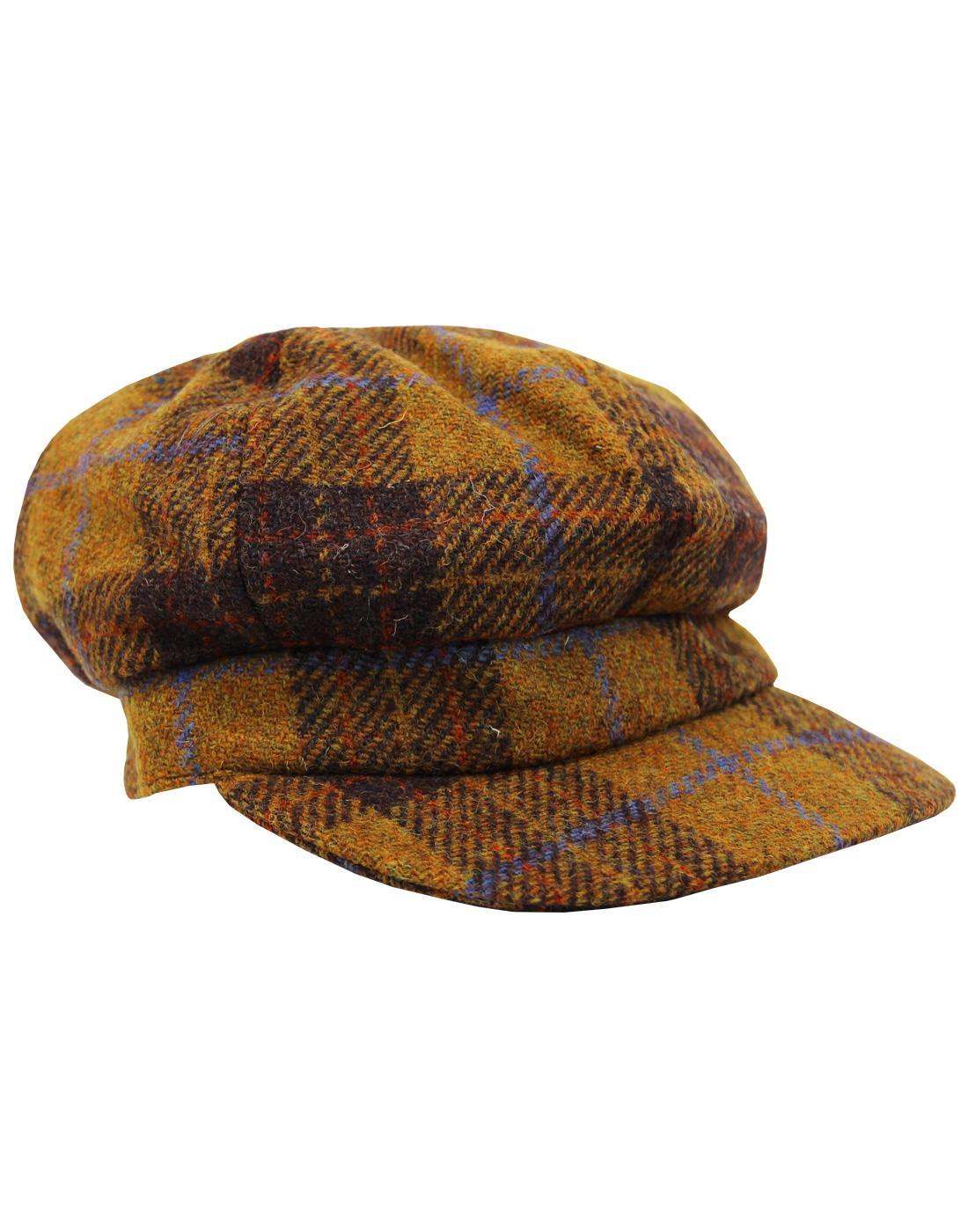 FAILSWORTH Retro Harris Tweed Womens Bakerboy Cap