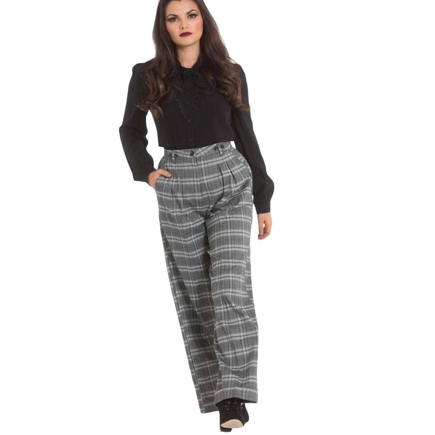 Frostine HELL BUNNY Retro 50s Plaid Swing Trousers