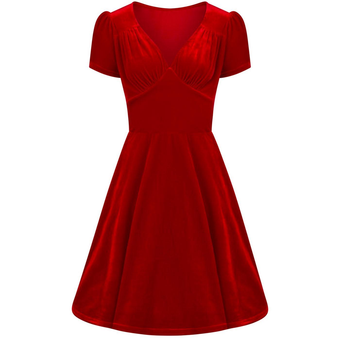 Joanne HELL BUNNY Vintage Velvet 50s Party Dress R