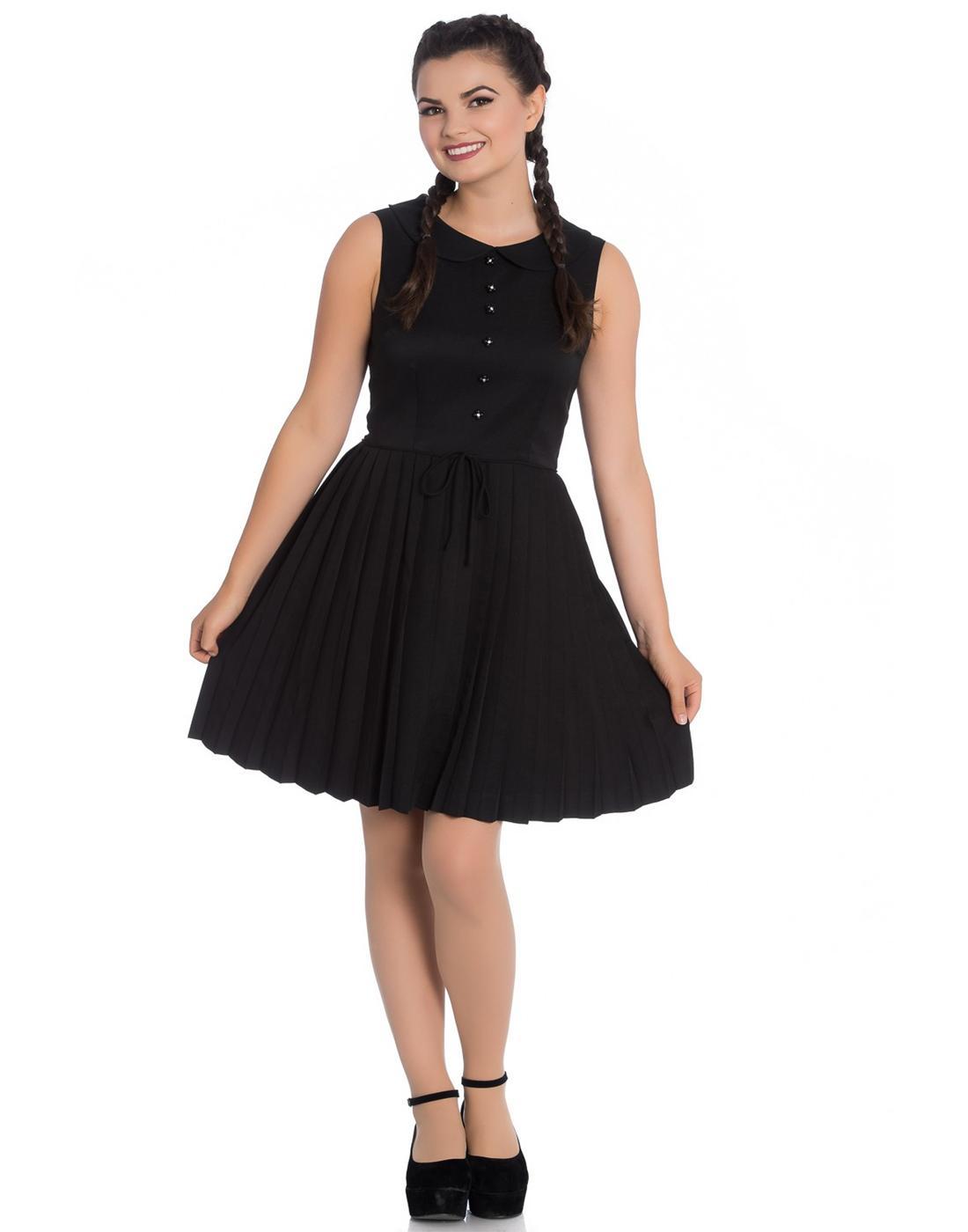 Josephine HELL BUNNY 60s Pleated Mod Mini Dress B