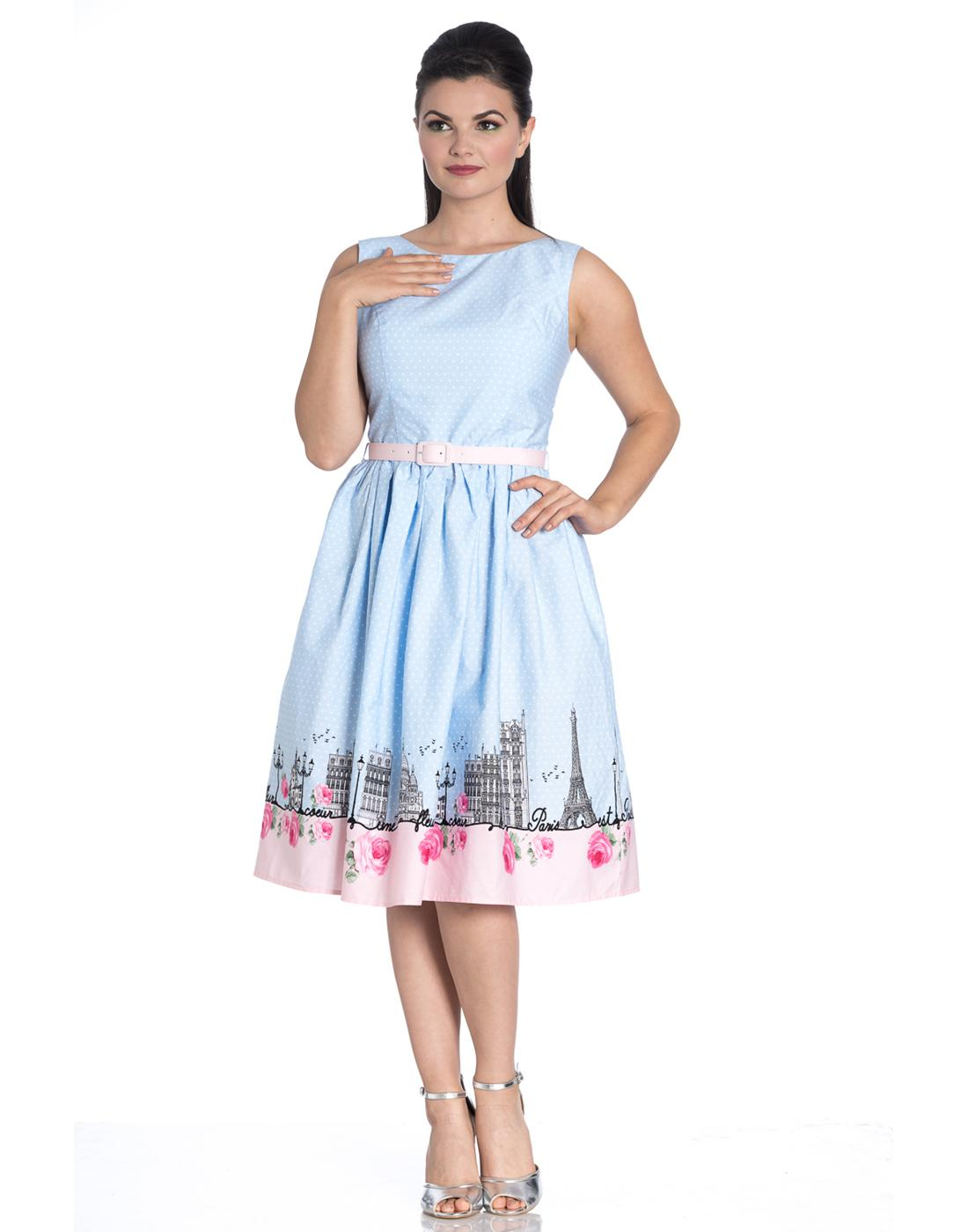 Paname HELL BUNNY Retro 50s Paris Summer Dress