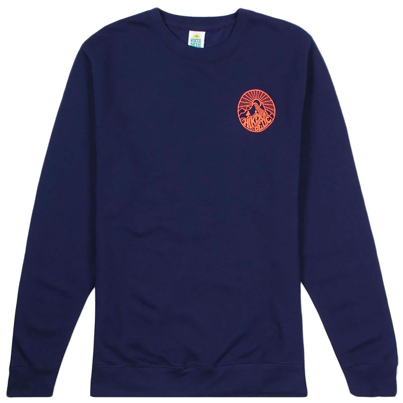 HIKERDELIC Men's Retro Core Logo Sweatshirt (Navy)