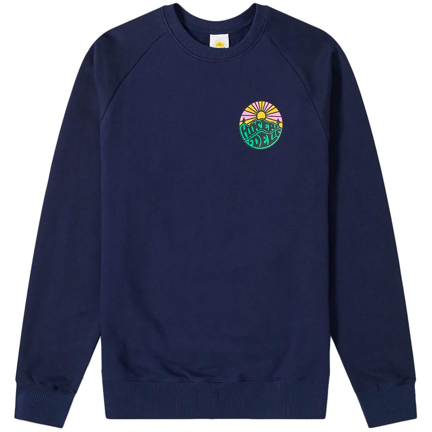 HIKERDELIC Retro Original Logo Sweatshirt (Navy)