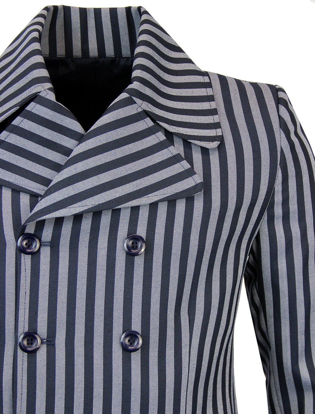NEW MAPCAP ENGLAND HOWL DOUBLE BREASTED BOATING BLAZER SILVER//NAVY MC282