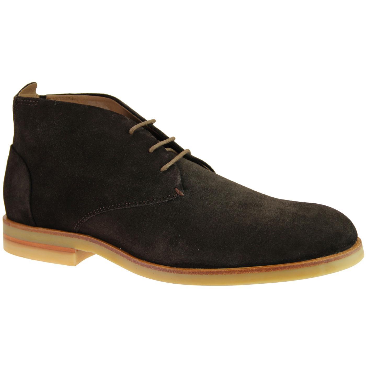 Bedlington HUDSON 60s Mod Suede Desert Boots BROWN