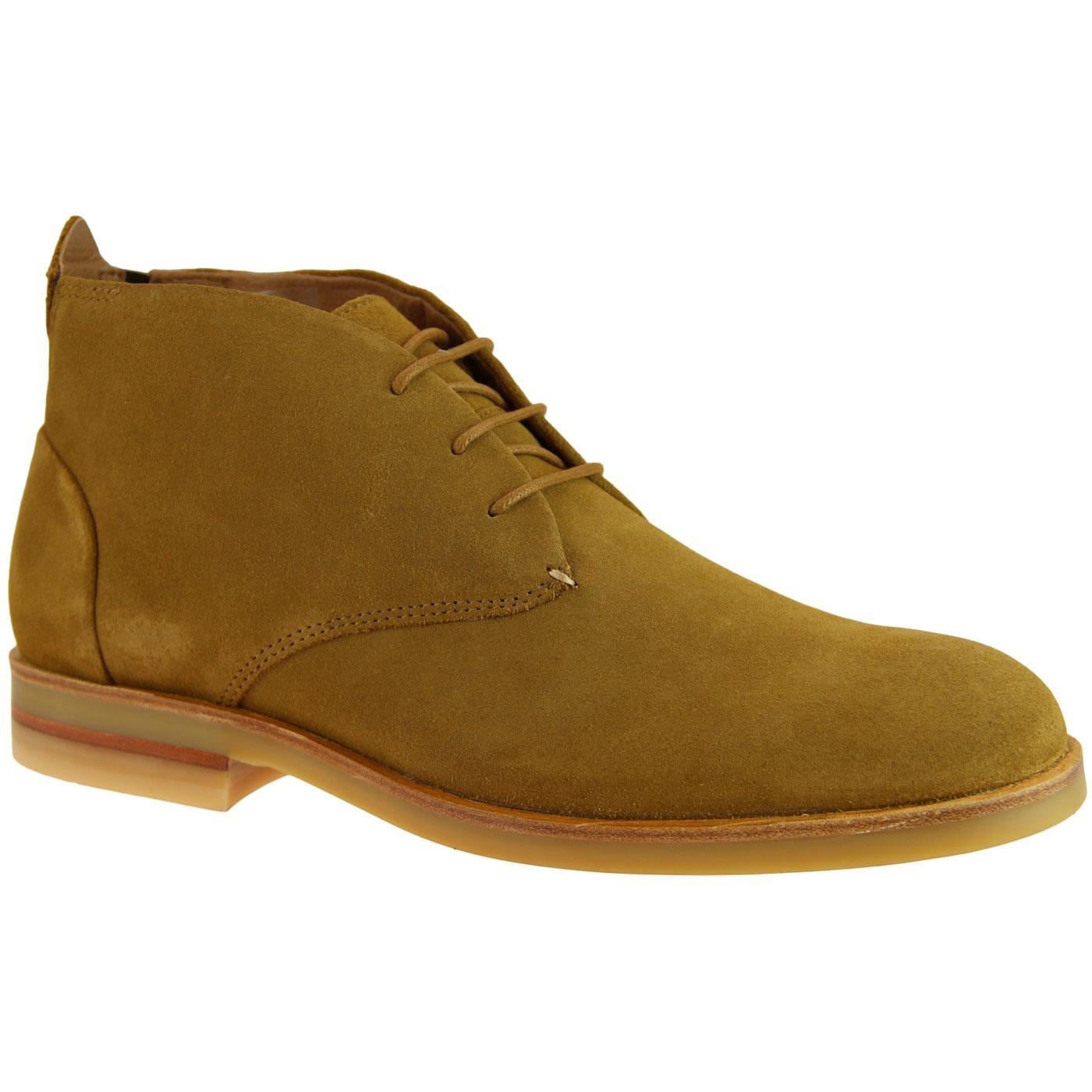 Bedlington HUDSON 60s Mod Suede Desert Boots CAMEL