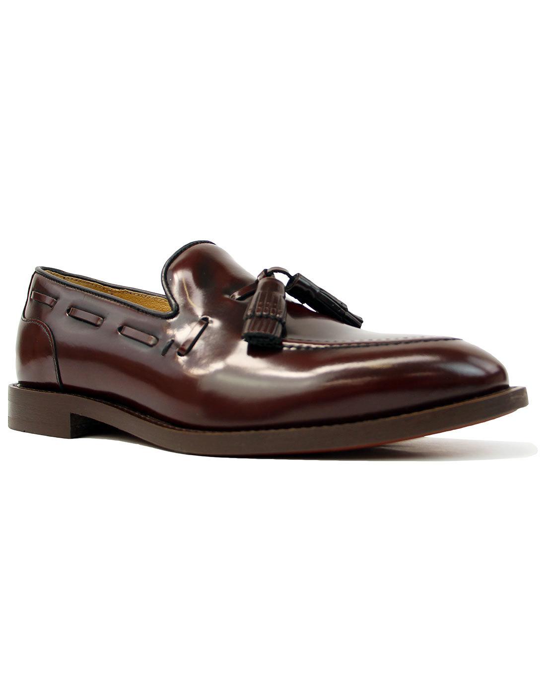 Benedict HUDSON 60s Mod Hi Shine Tassel Loafers B