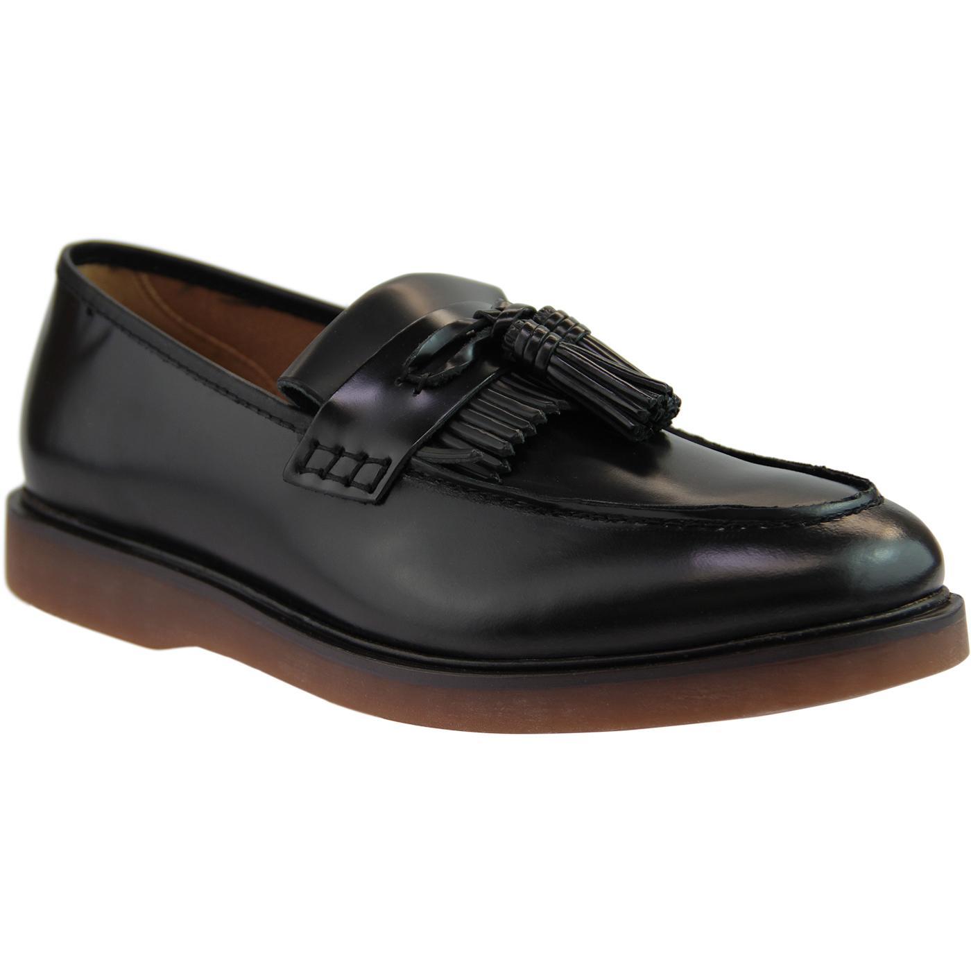 Calne HUDSON Retro Mod Tassel Fringe Loafers (B)