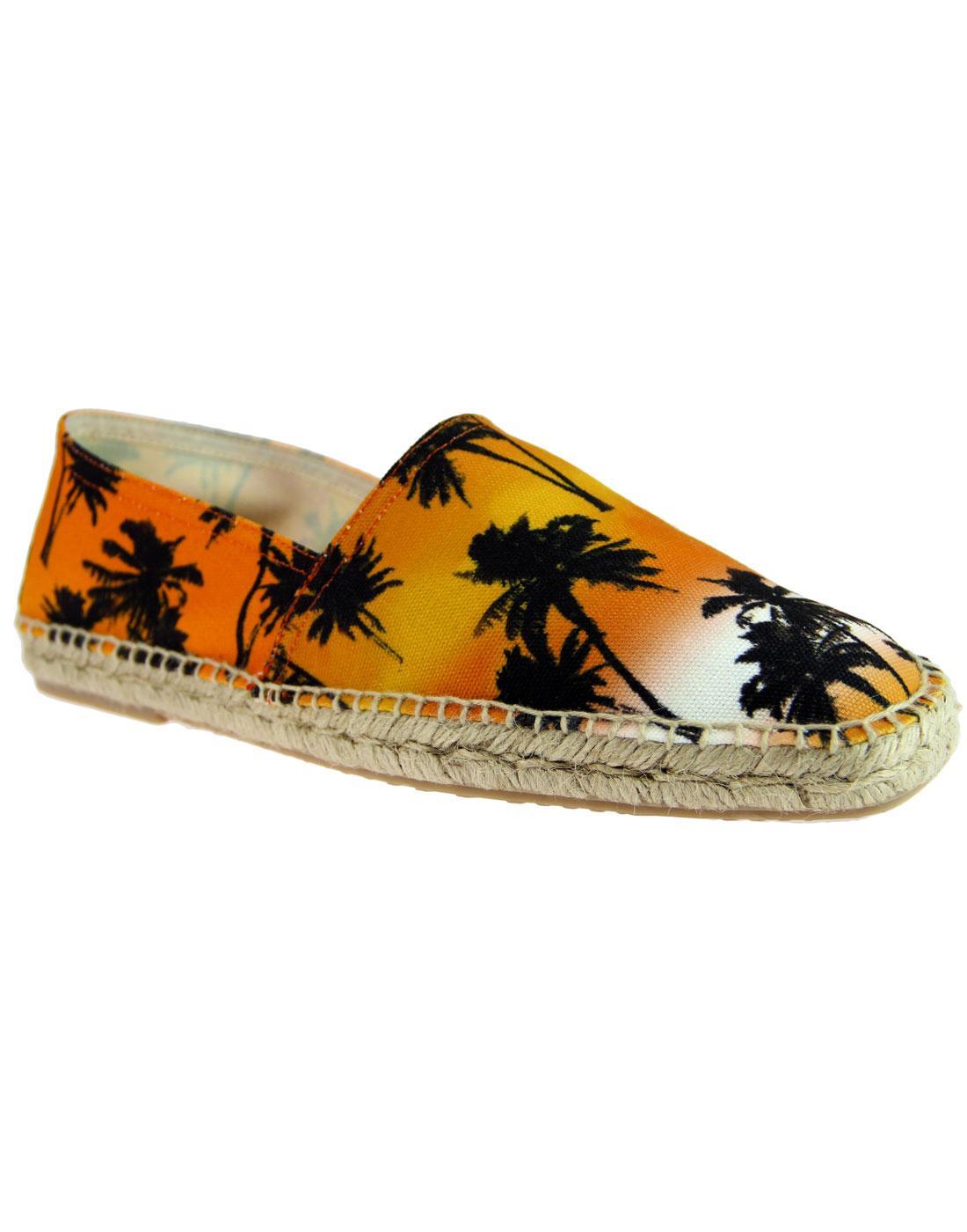 Blake HUDSON Retro Hawaiian Palm Print Espadrilles