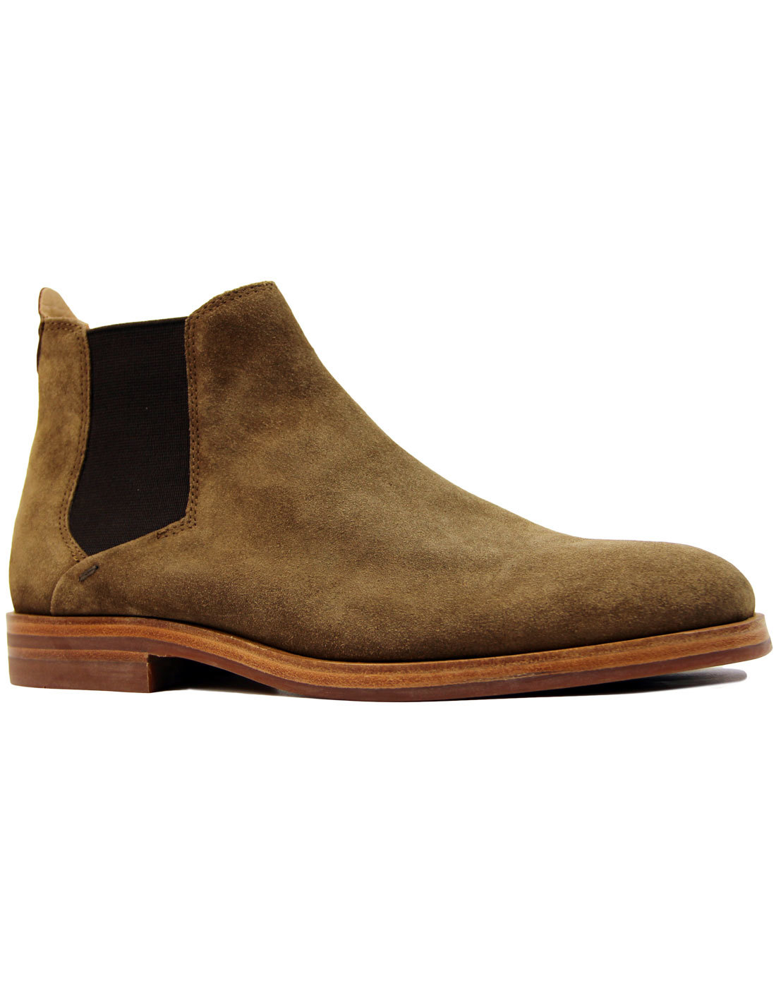 H by hudson tonte suede retro 1960s mod chelsea boots in for Tonte