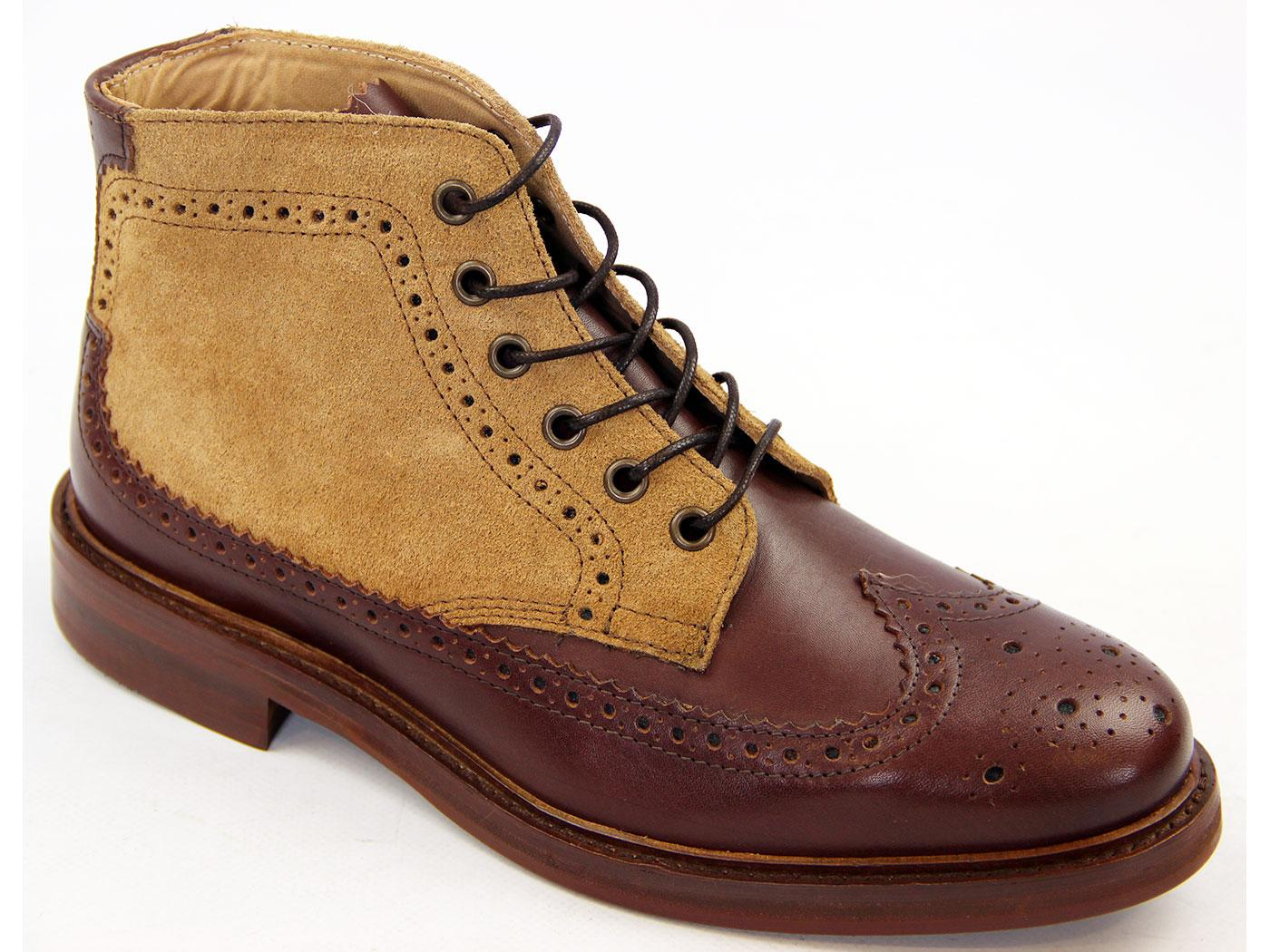 Hemming H by HUDSON Suede & leather Brogue Boots