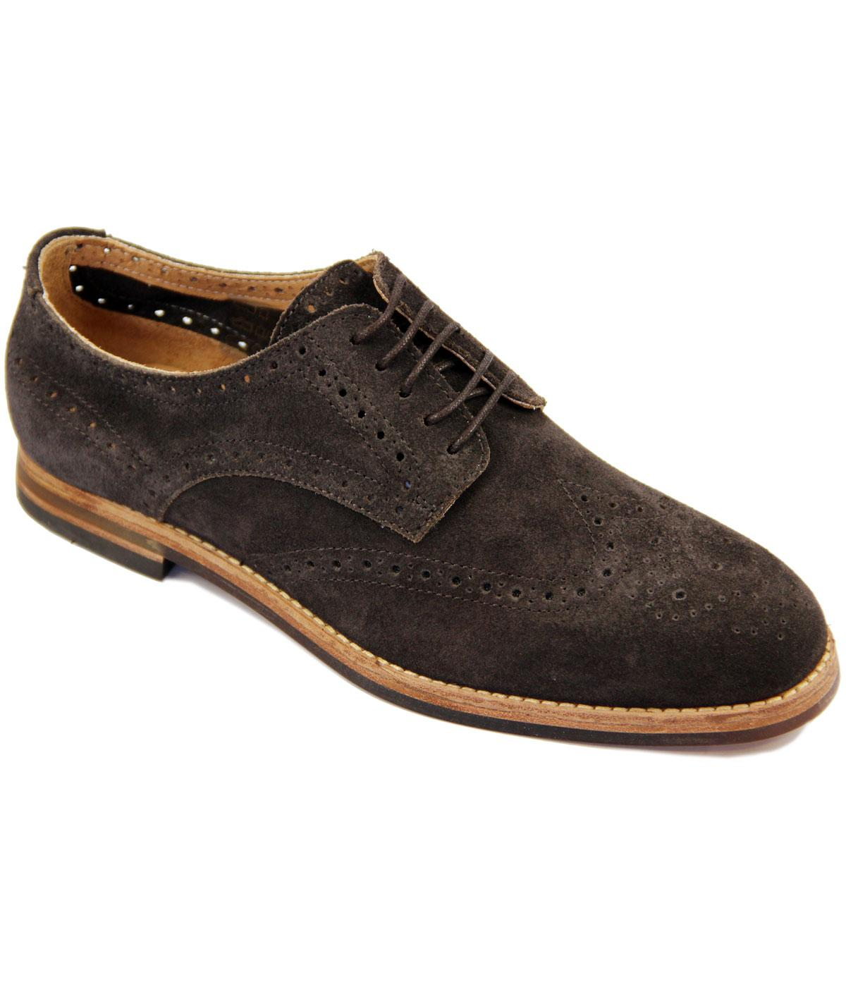 Harmer H by HUDSON Retro Mod Suede Brogue Shoes