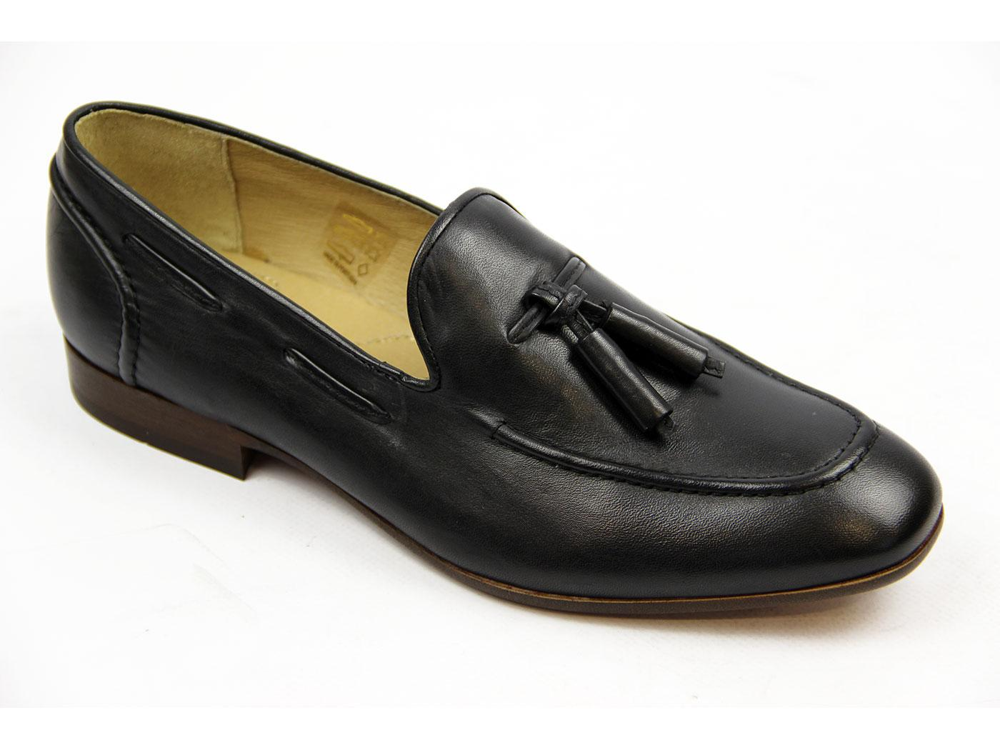 Pierre H by HUDSON Retro Mod Leather Loafers (B)