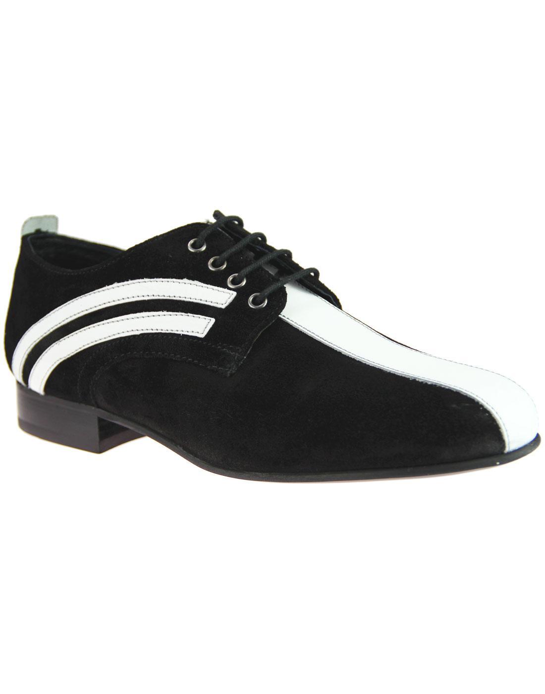IKON ORIGINAL Retro Mod Badger Bowling Shoes BLACK