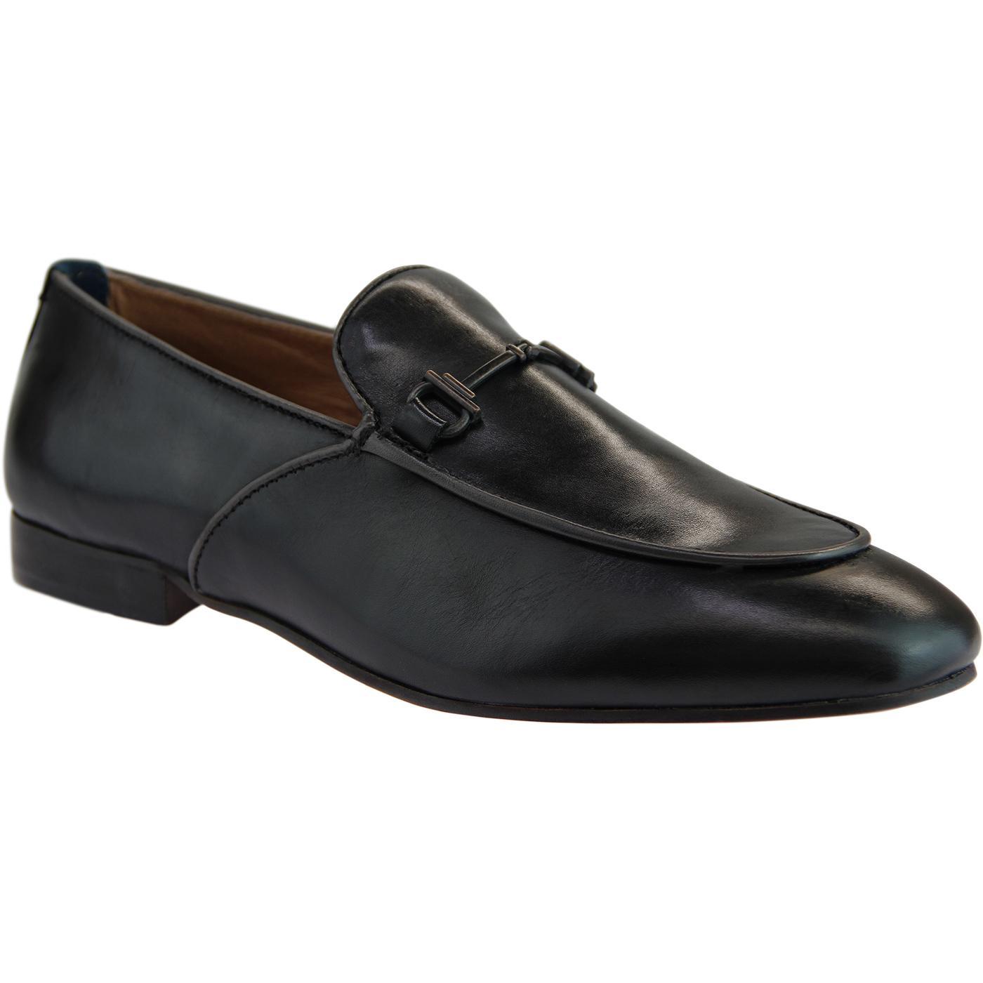 Carmarthen HUDSON Retro Brass Snaffle Loafers (B)