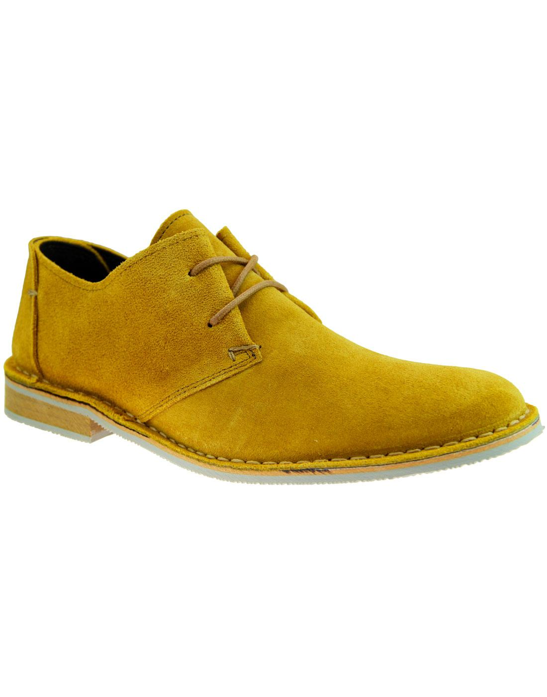 Franklin IKON Retro Mod Suede Desert Shoes OCHRE