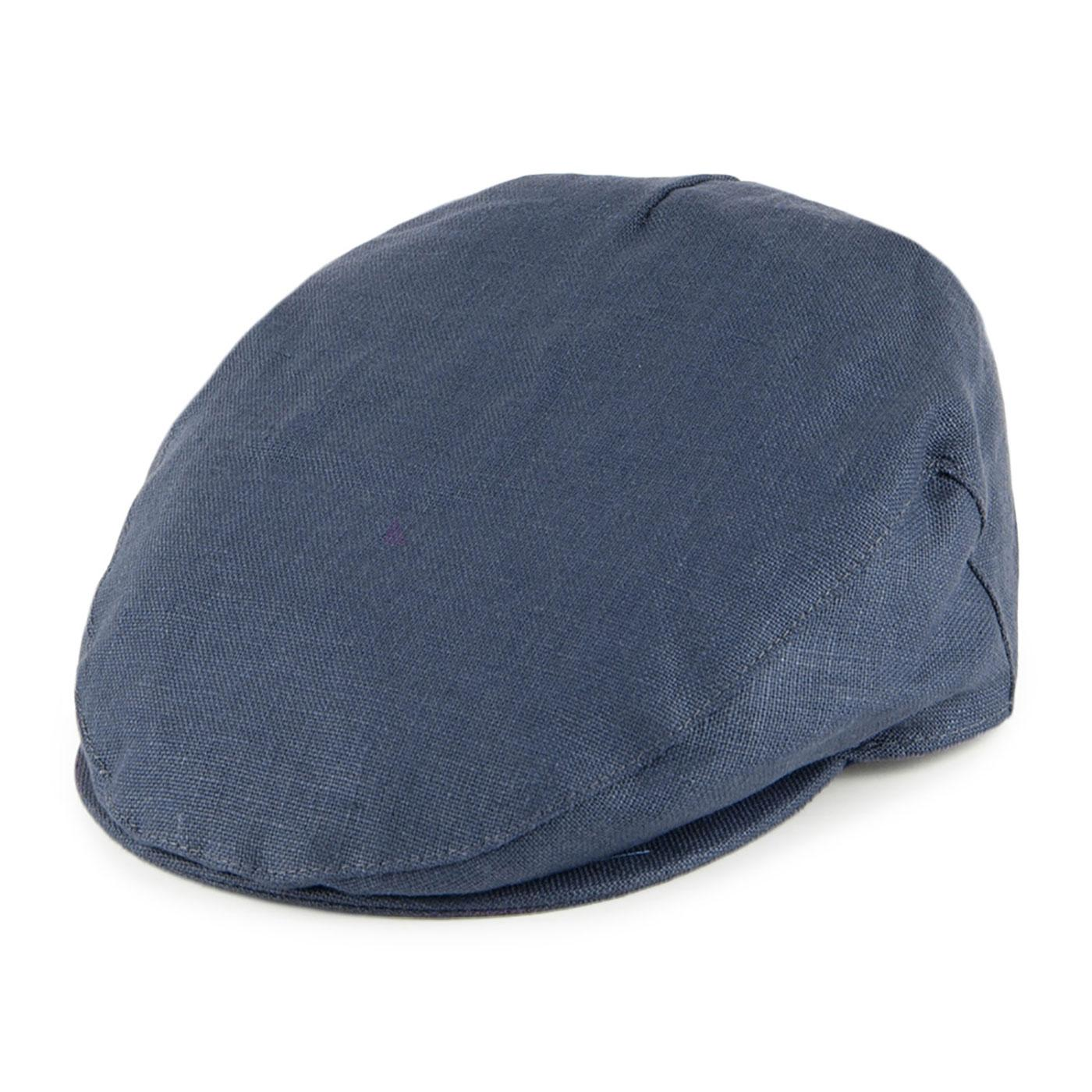 FAILSWORTH Men's Retro Irish Linen Flat Cap NAVY