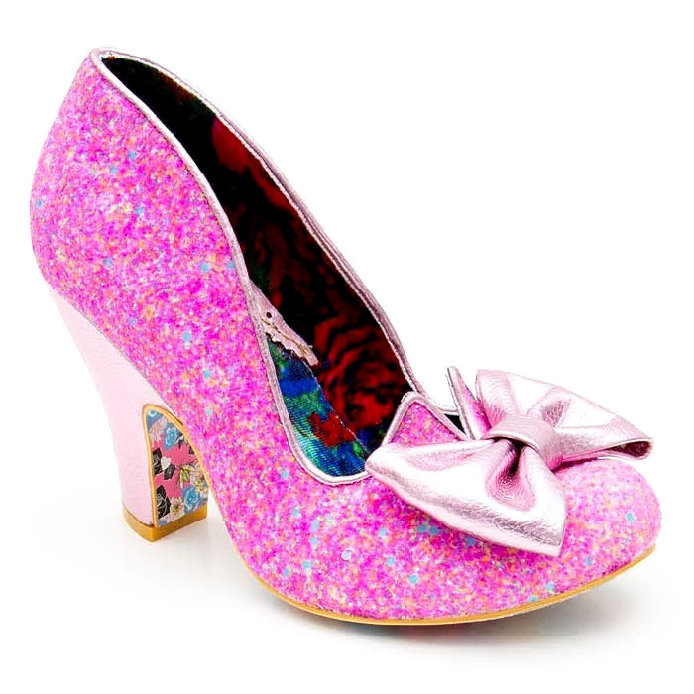 Nick Of Time IRREGULAR CHOICE Pink Glitter Heels