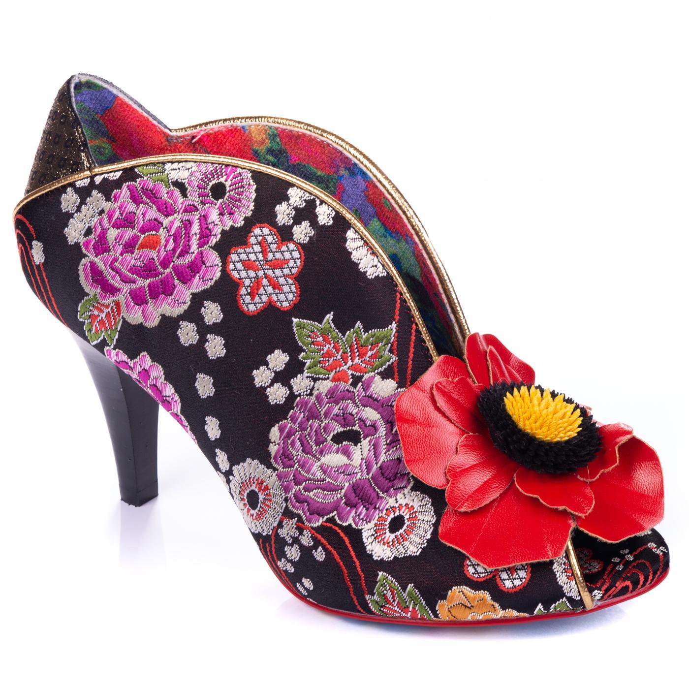 Rita Primrose IRREGULAR CHOICE Floral Heels Black