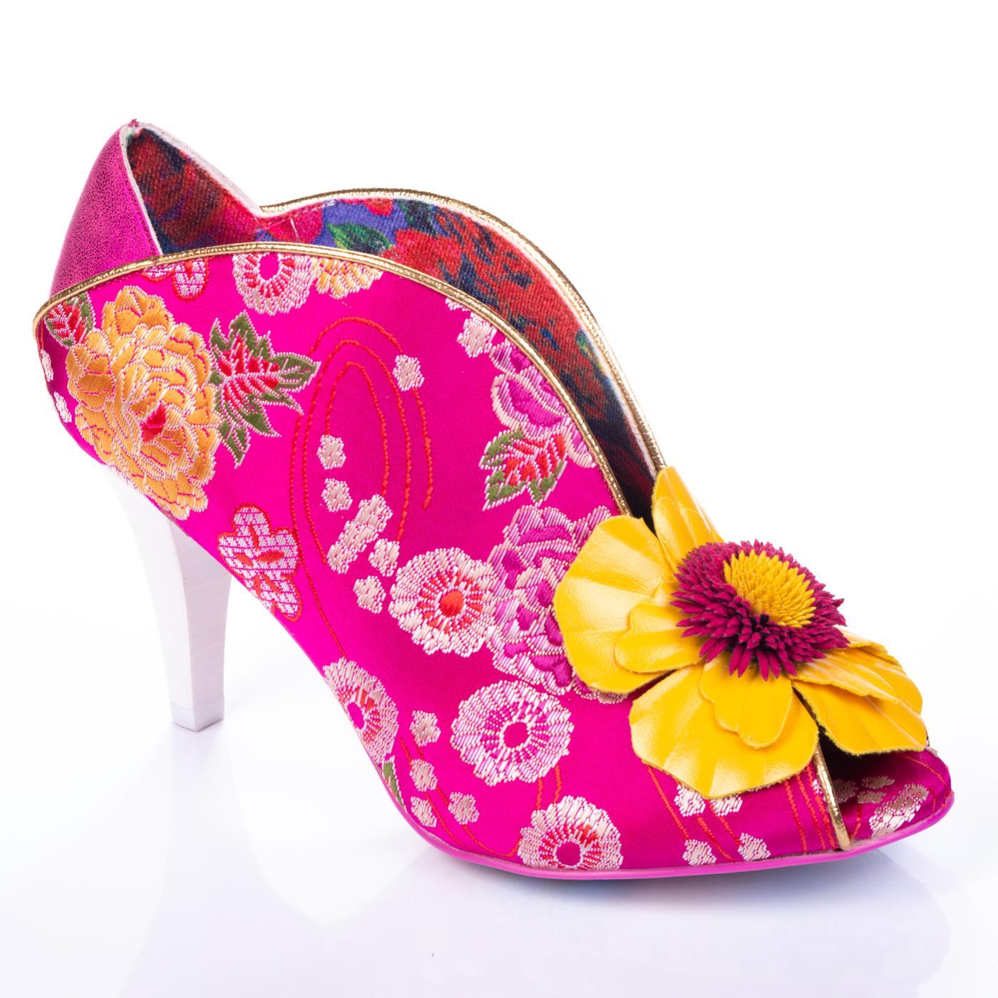 Rita Primrose IRREGULAR CHOICE Floral Heels Pink
