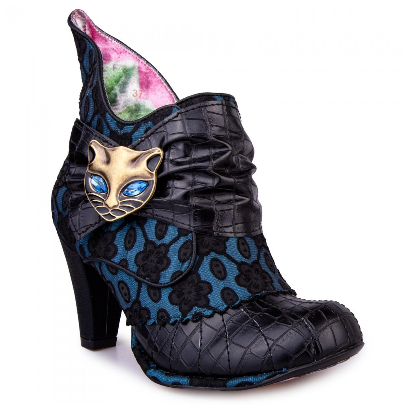 Miaow IRREGULAR CHOICE Retro Textured Cat Boots BB