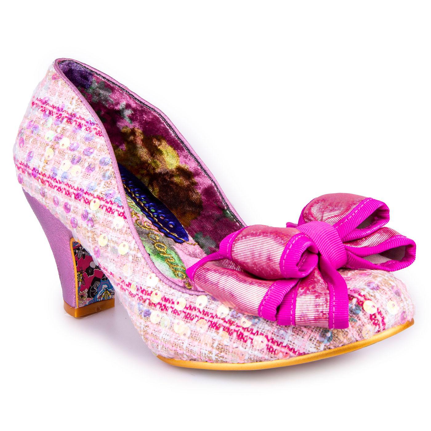 Ban Joe IRREGULAR CHOICE Retro Tweed Shoes - Pink