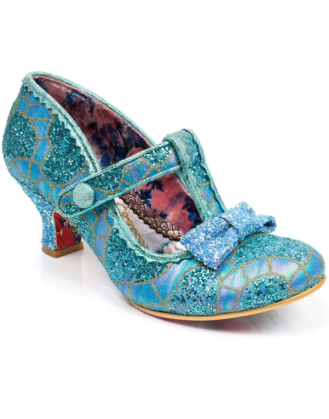 Lazy River IRREGULAR CHOICE 50s Glitter Heels BLUE