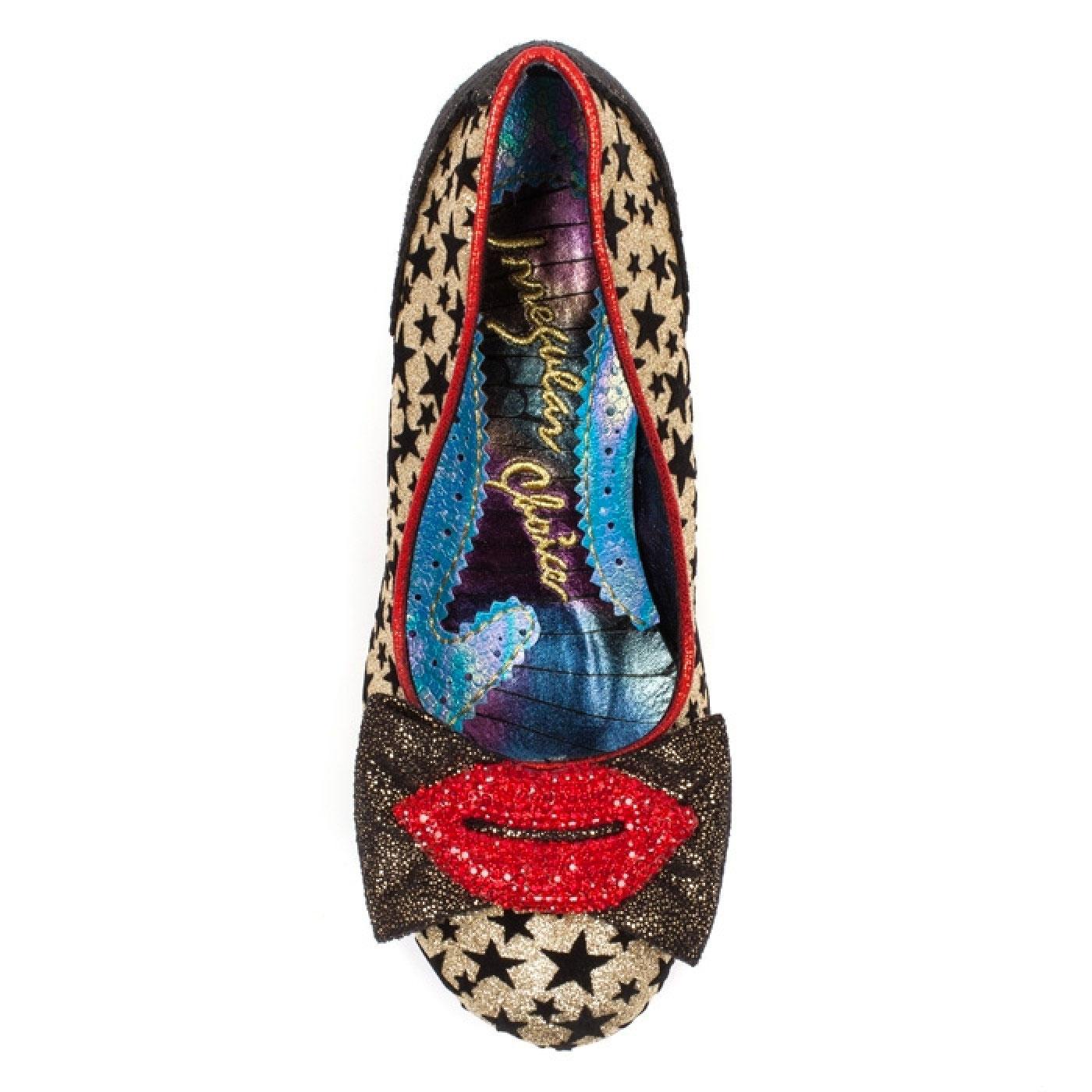 Womens Irregular Choice Carnival Kiss Glitter Evening Court Shoes