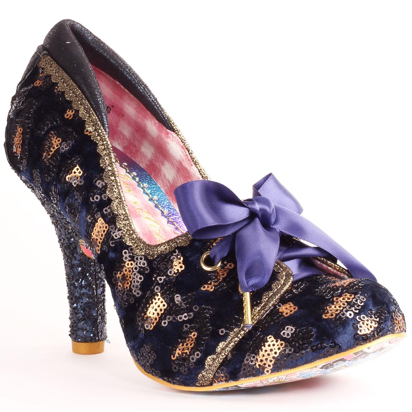 Chips & Gravy IRREGULAR CHOICE Sequin Lace Up Heel