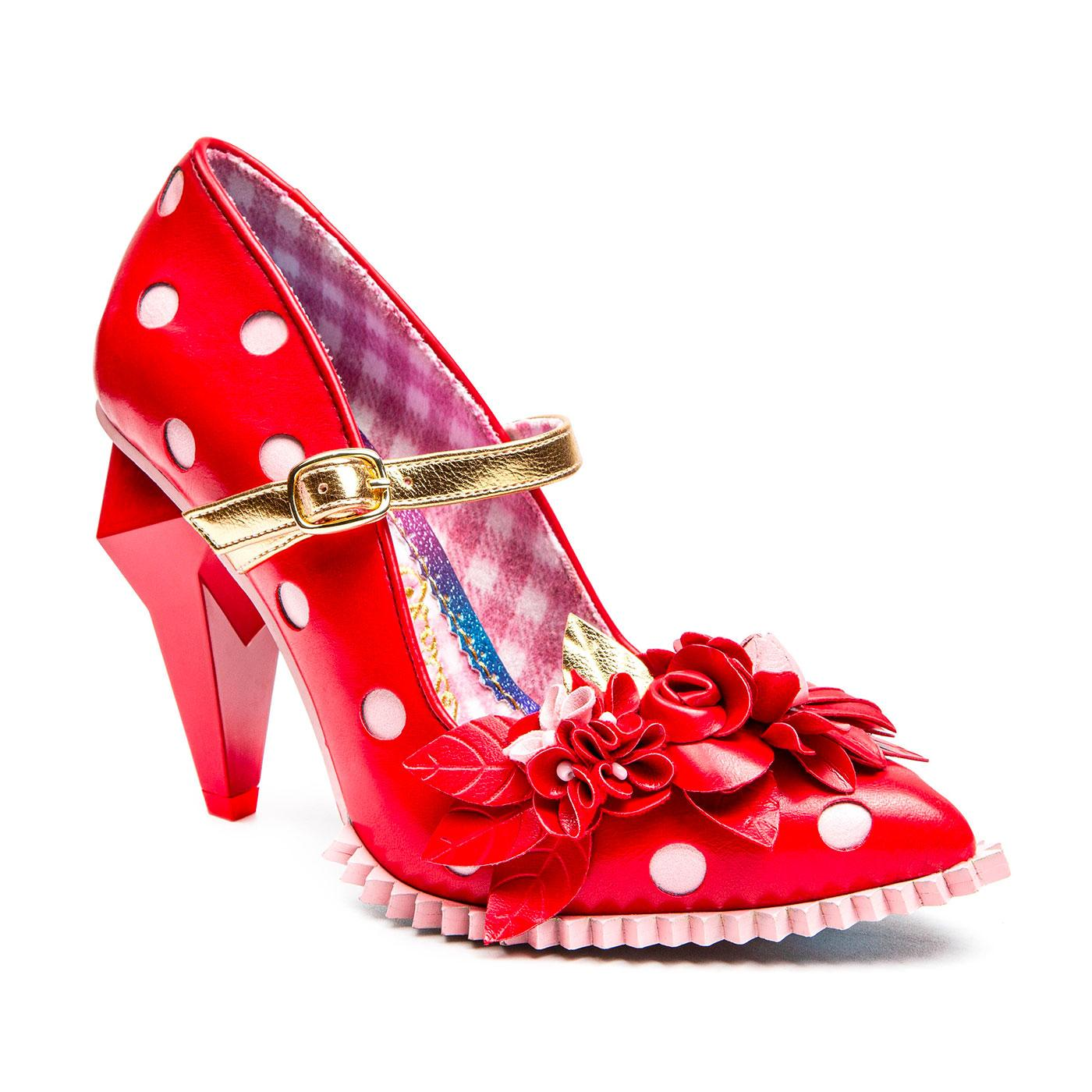 Crystal Pips IRREGULAR CHOICE Polka Dot Heels (R)