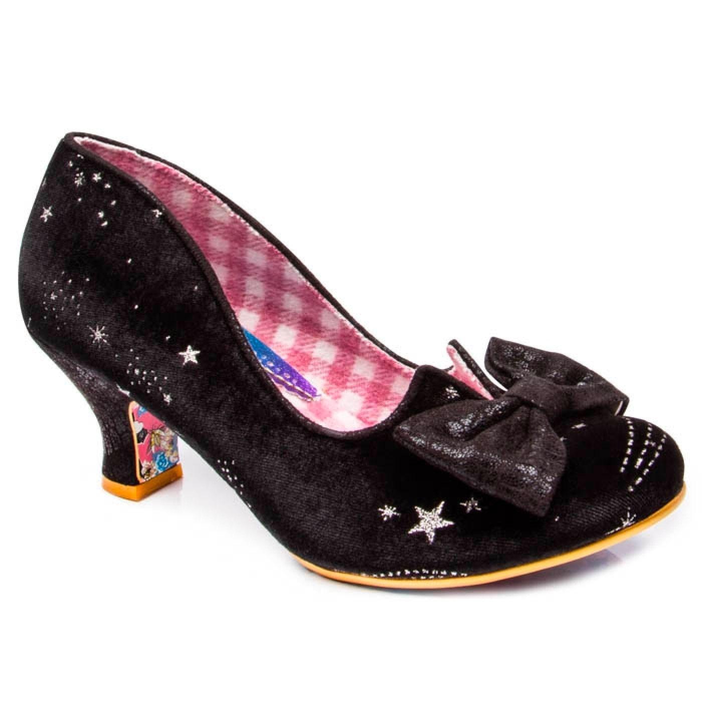 Dazzle Razzle IRREGULAR CHOICE Black Velvet Shoes