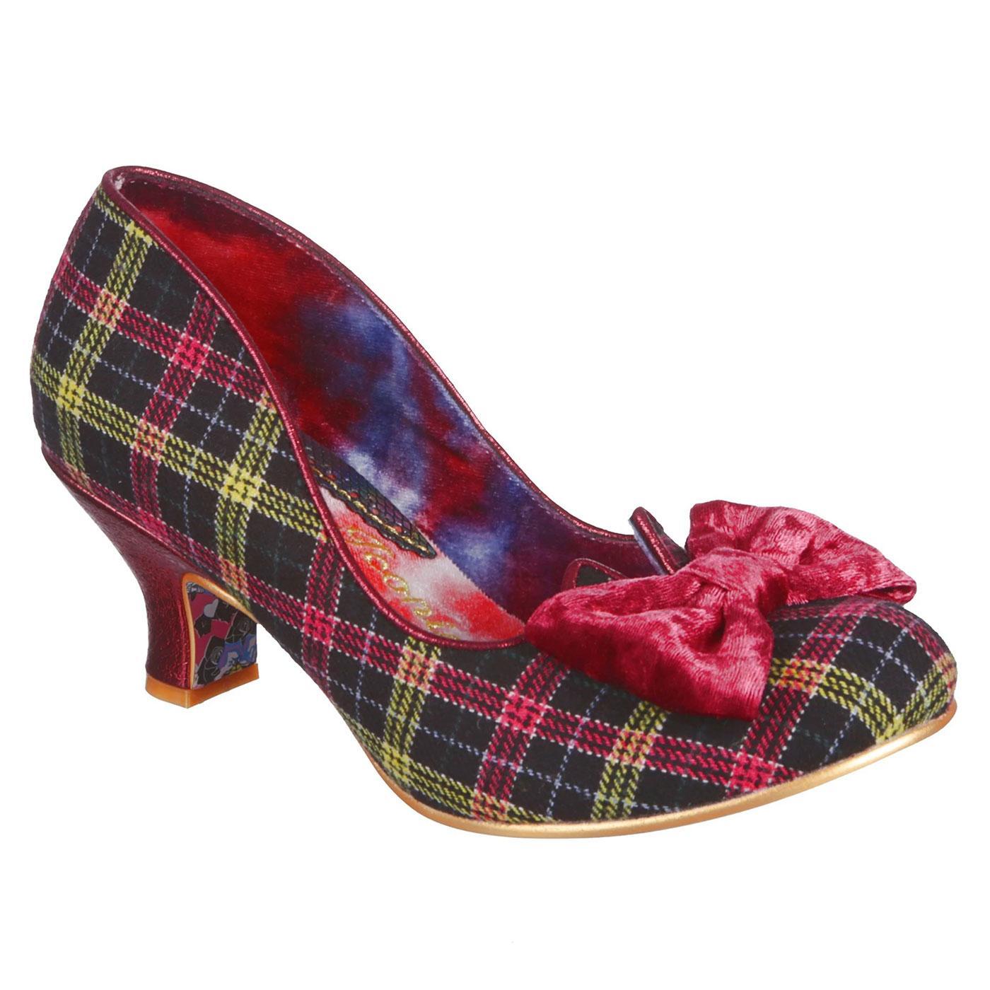 Dazzle Razzle IRREGULAR CHOICE Tartan Check Shoes