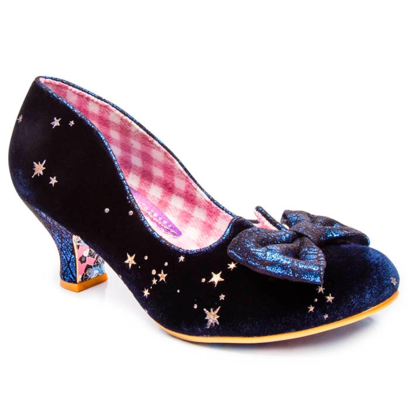 Dazzle Razzle IRREGULAR CHOICE Blue Velvet Shoes