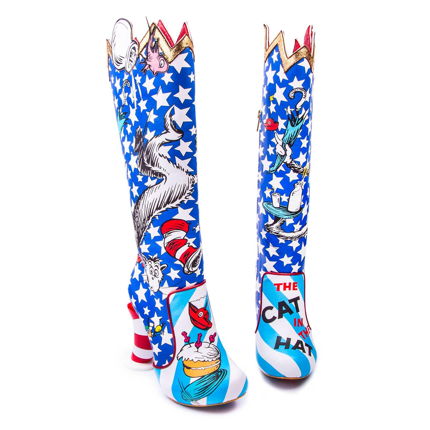 IRREGULAR CHOICE x DR SEUSS Cat in The Hat Boots