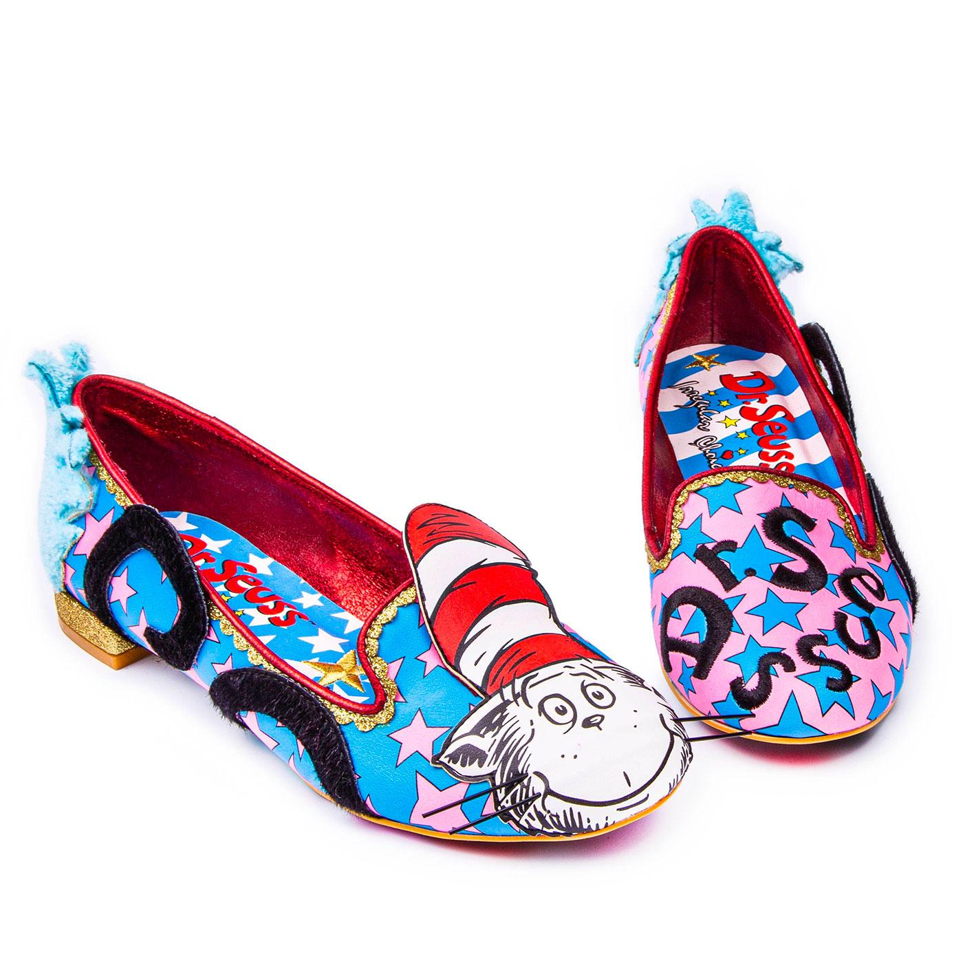 IRREGULAR CHOICE x CAT IN THE HAT Dr Seuss Shoes