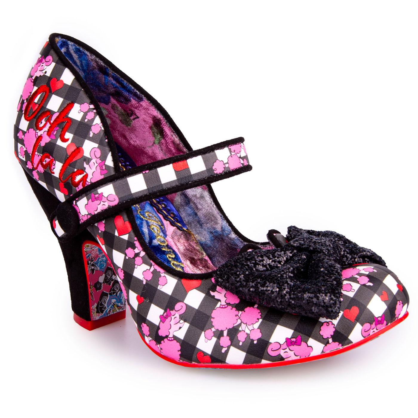 Fancy That IRREGULAR CHOICE Gingham Poodle Heels B